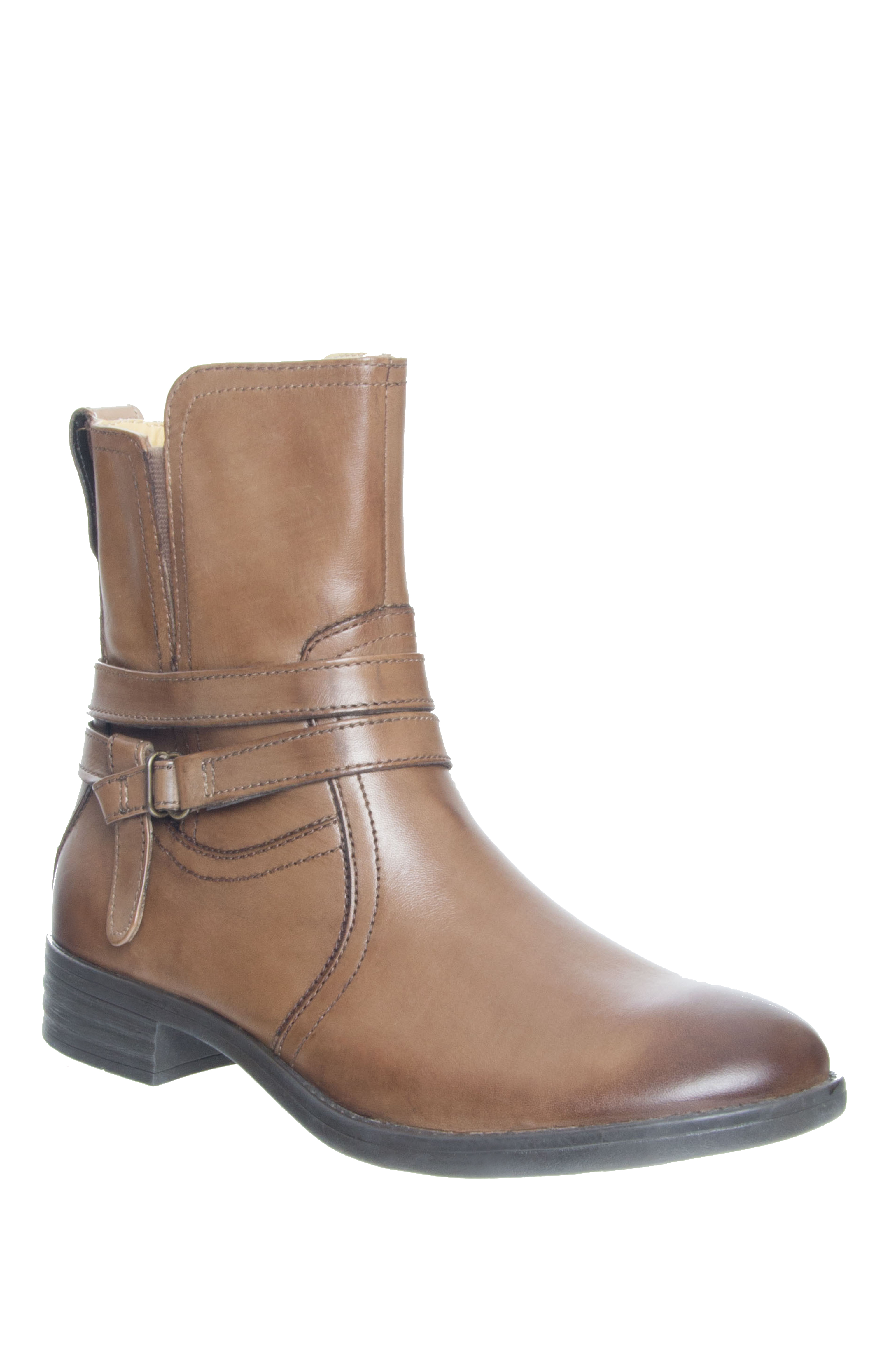 Bussola Tania Low Heel Boots - Fossil