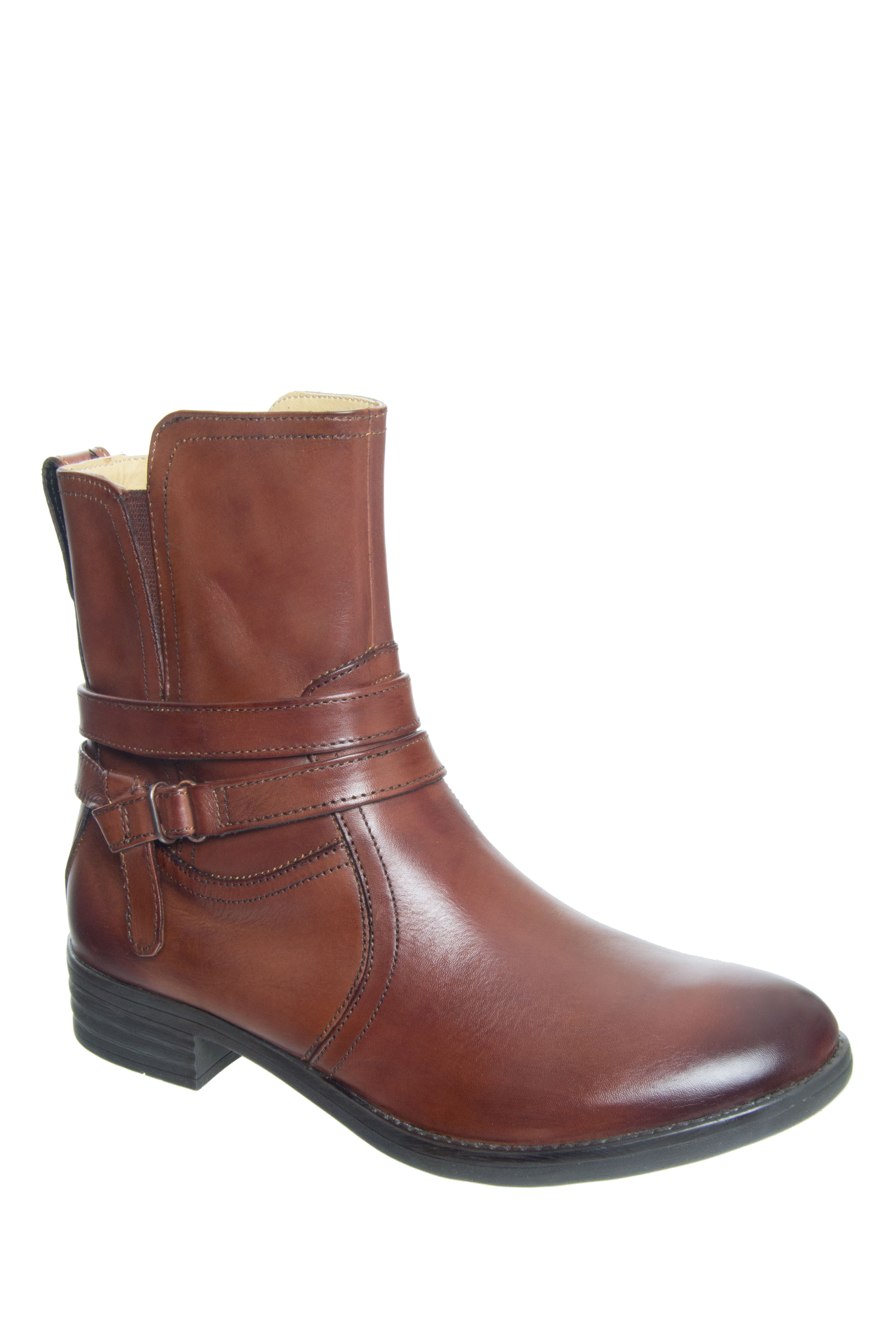 Bussola Tania Low Heel Boots - Russet