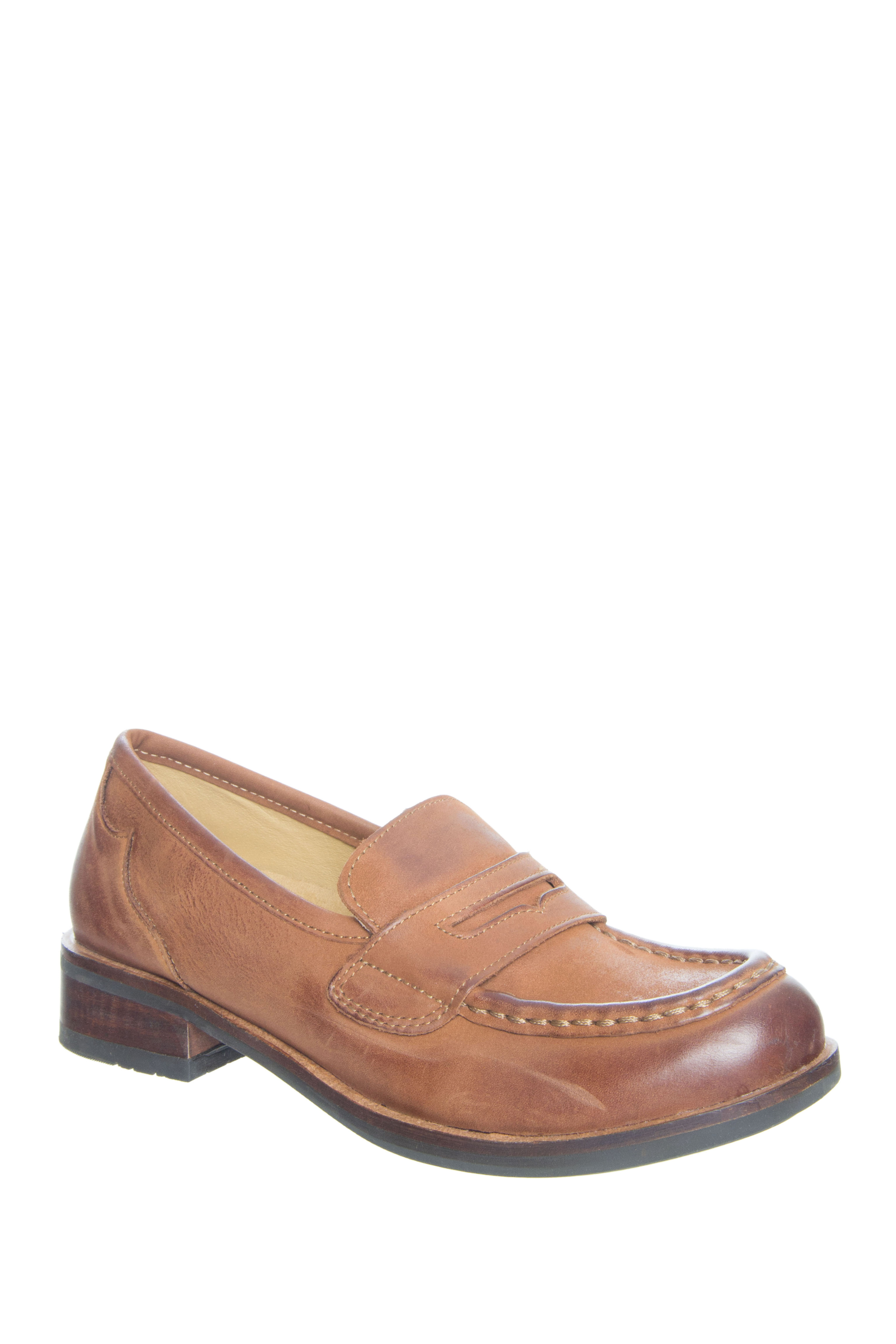 Bussola Nancy Low Heel Loafers - Cognac