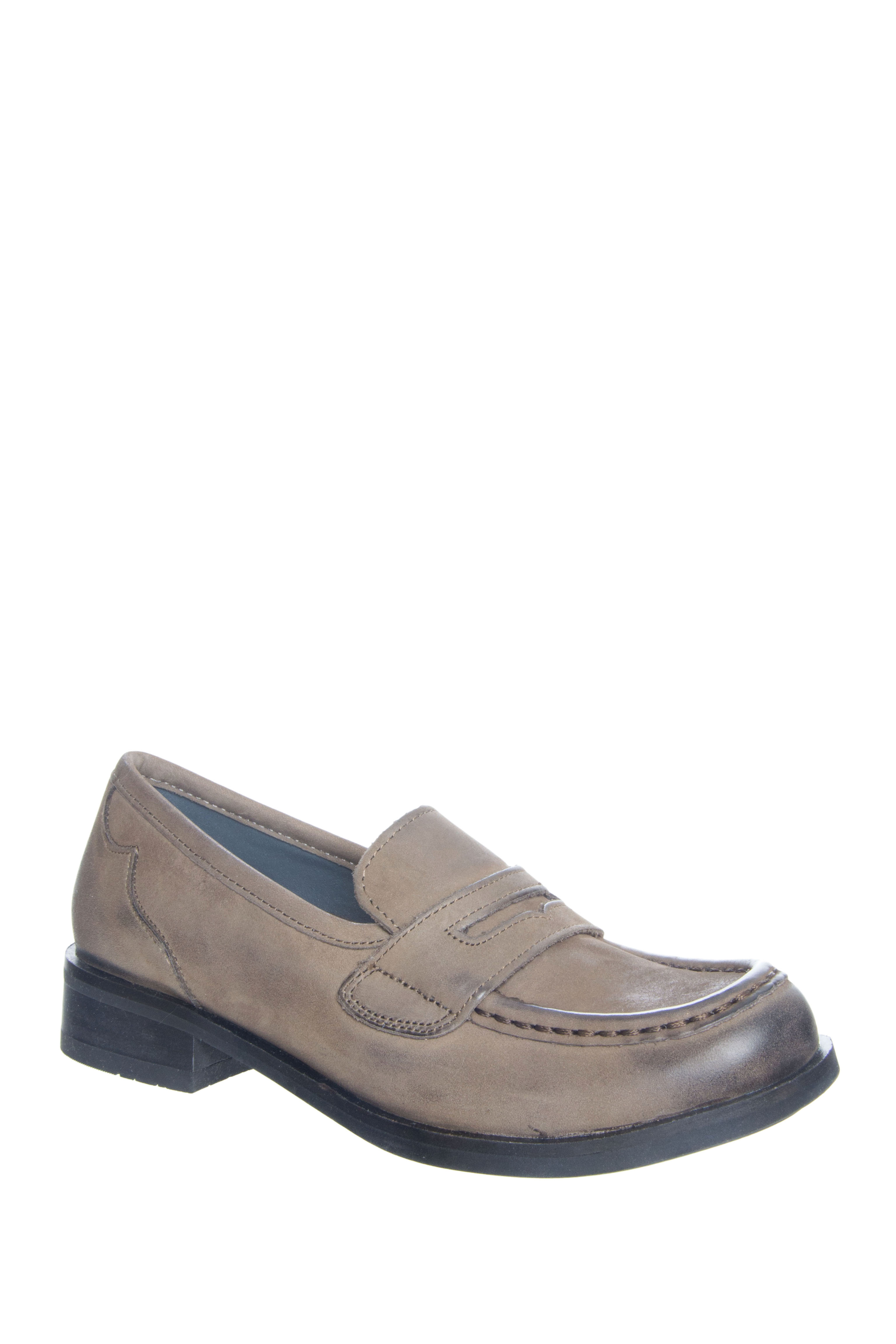 Bussola Nancy Low Heel Loafers - Stone