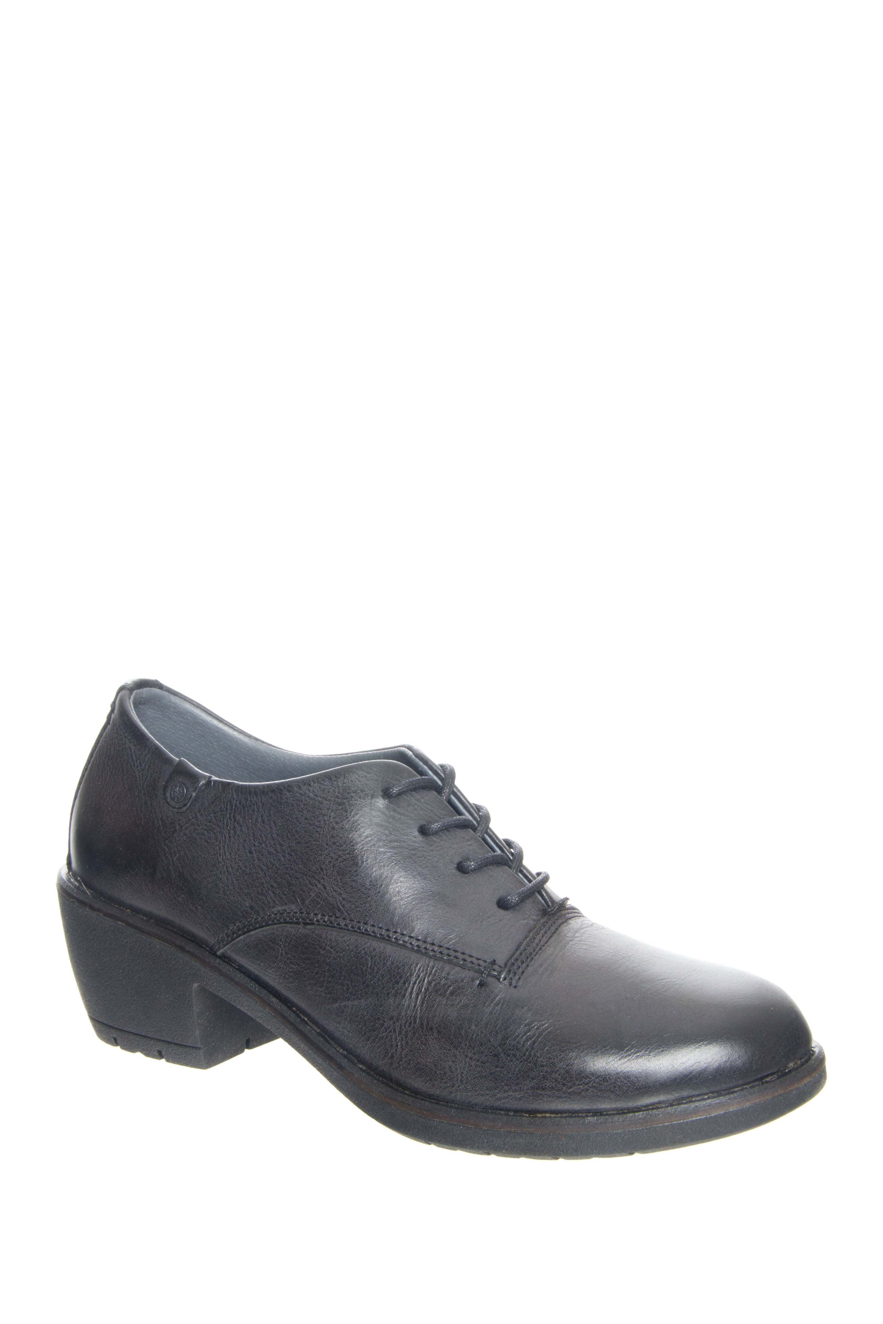 Bussola Shay Mid Heel Oxford - Black
