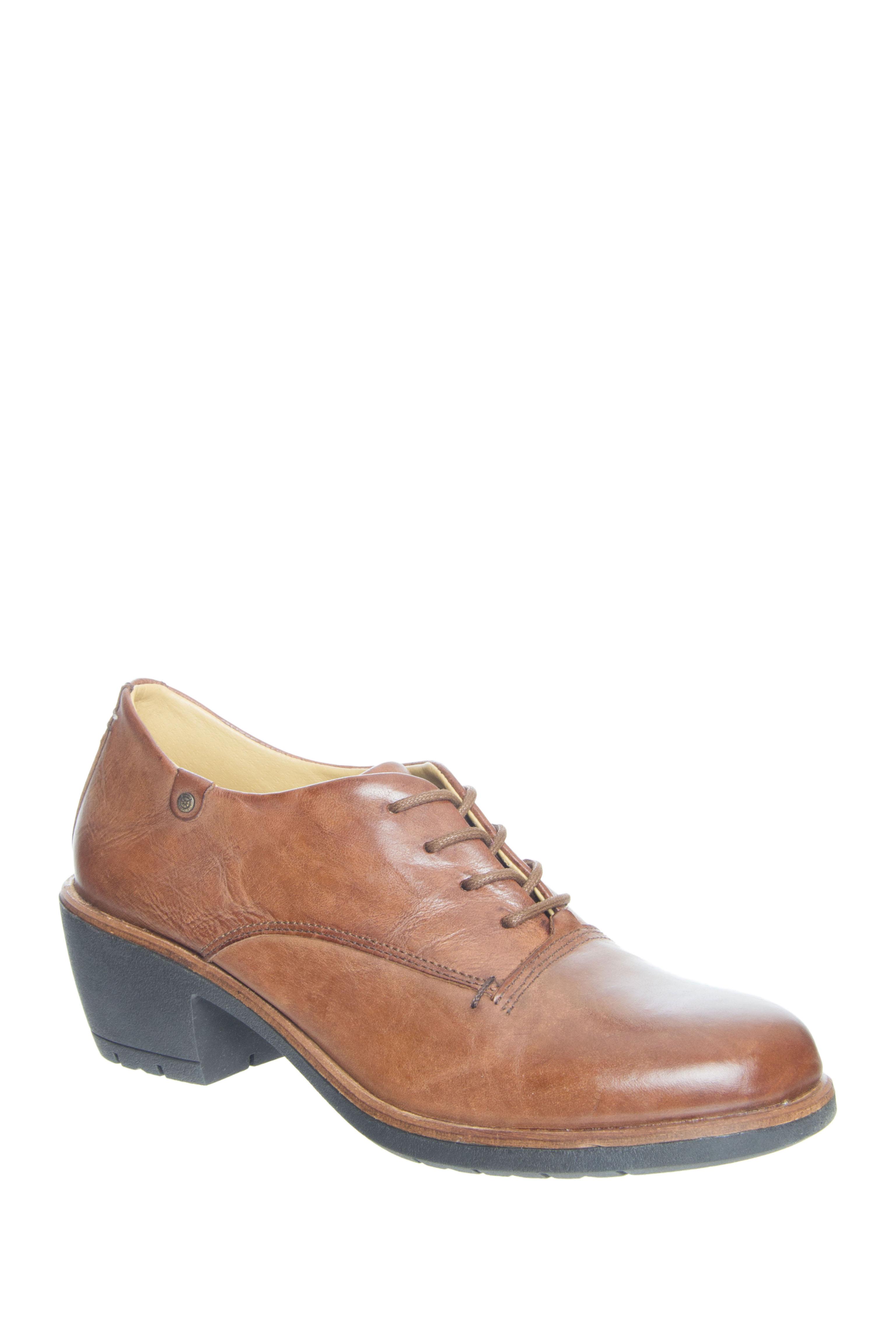 Bussola Shay Mid Heel Oxford - Cognac