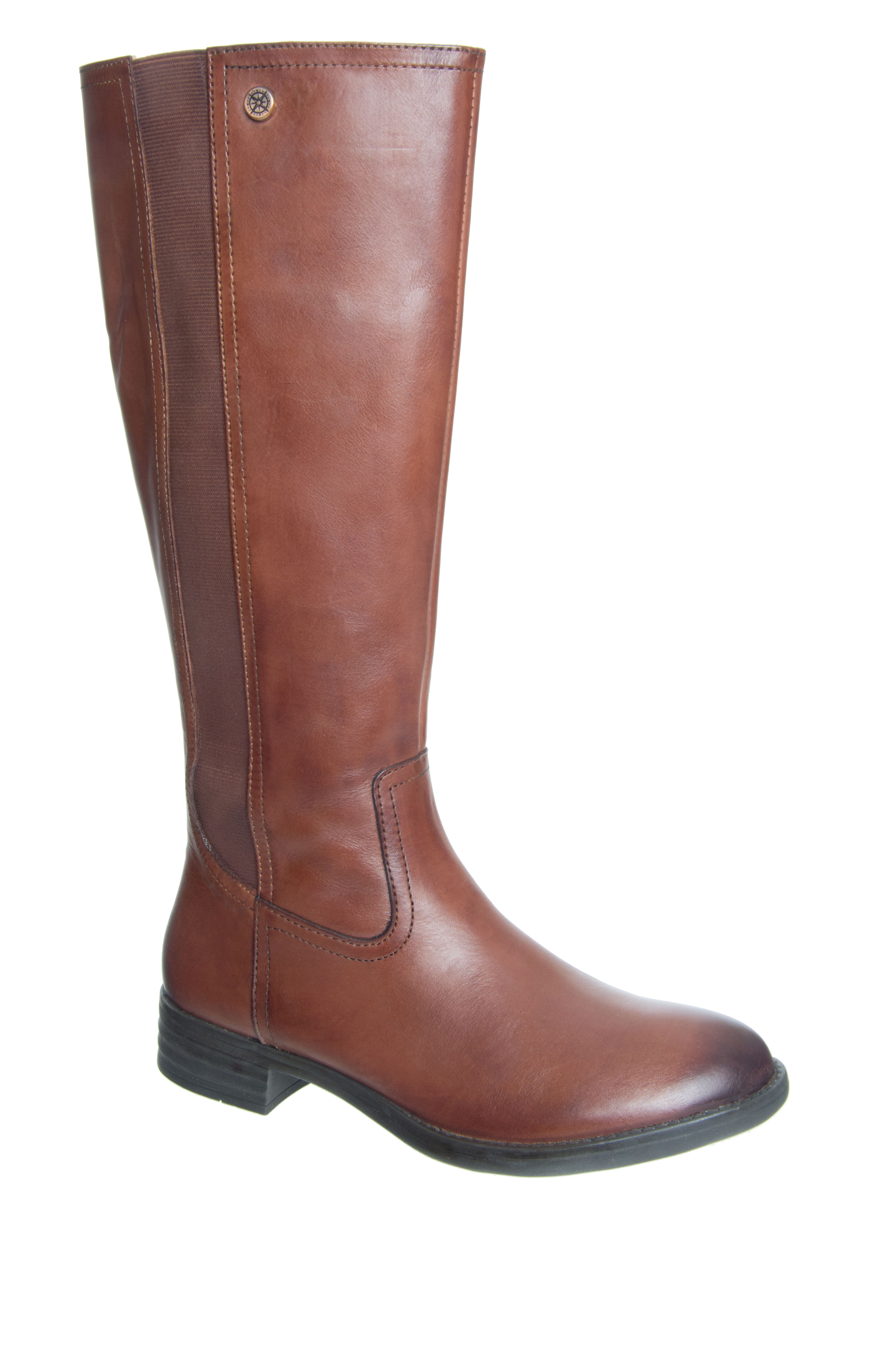 Bussola Tyra Mid Calf Boots - Russet