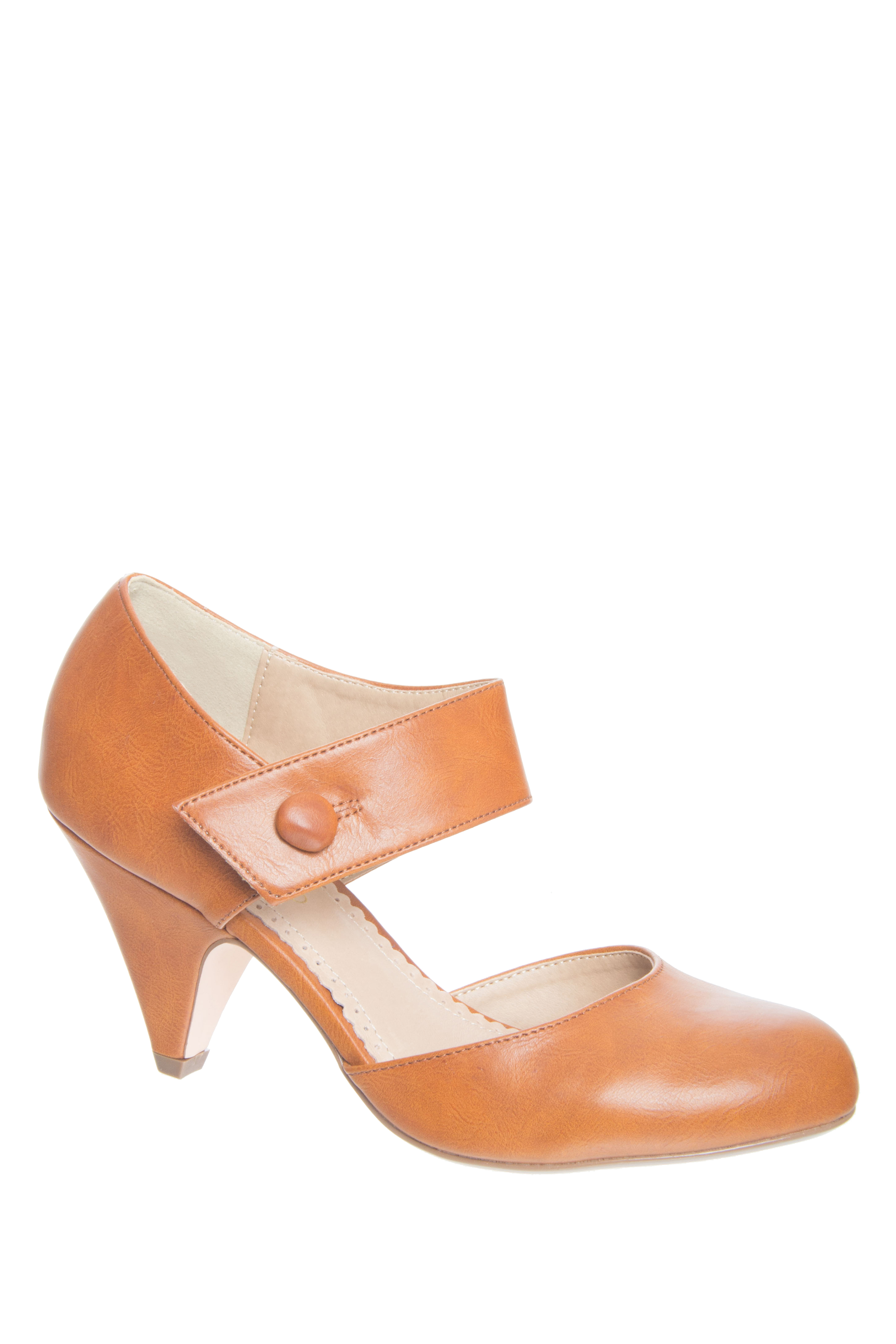 Restricted Chatroom Mid Heel Pumps - Whiskey