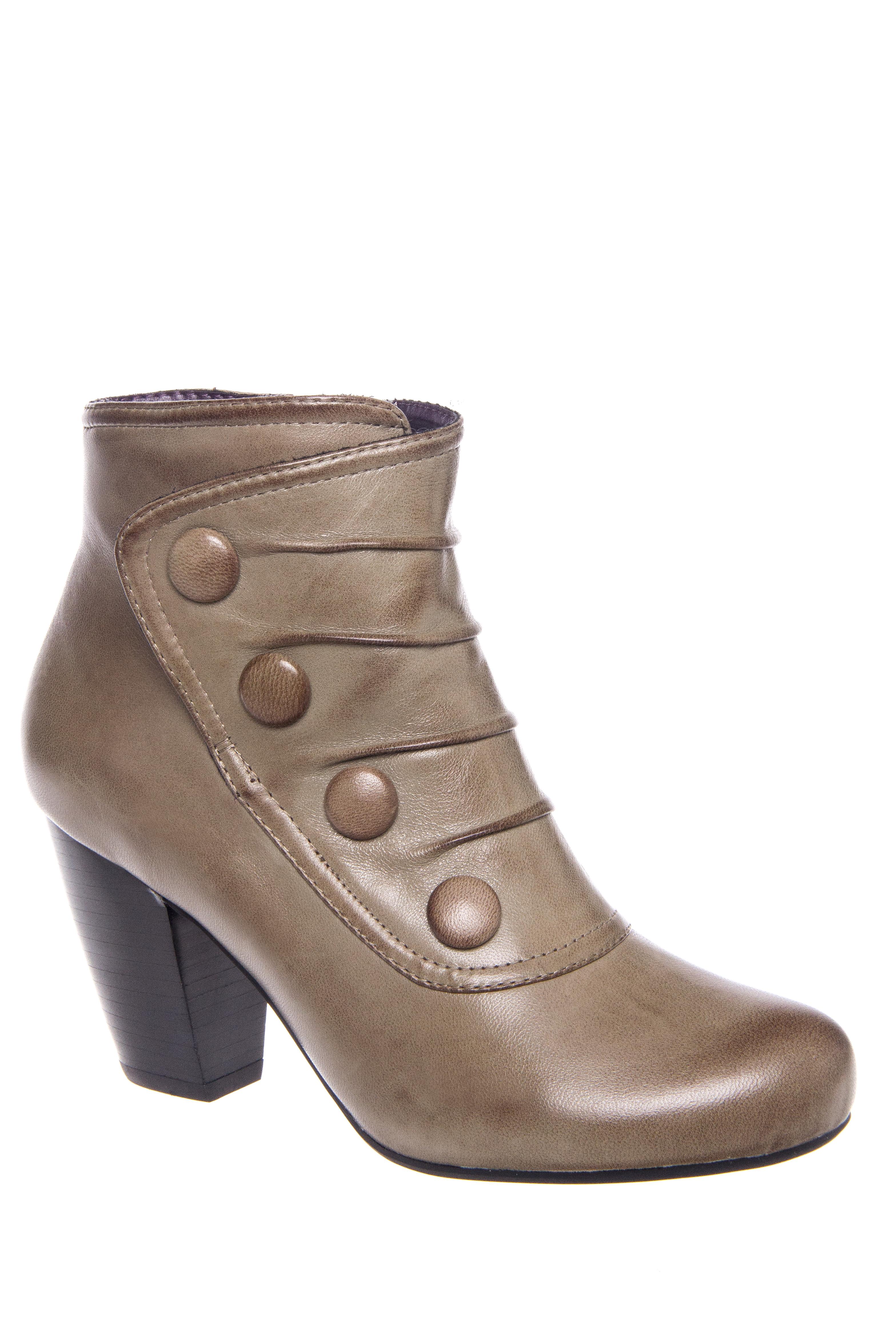 Denise Mid Heel Boot $75.00 AT vintagedancer.com