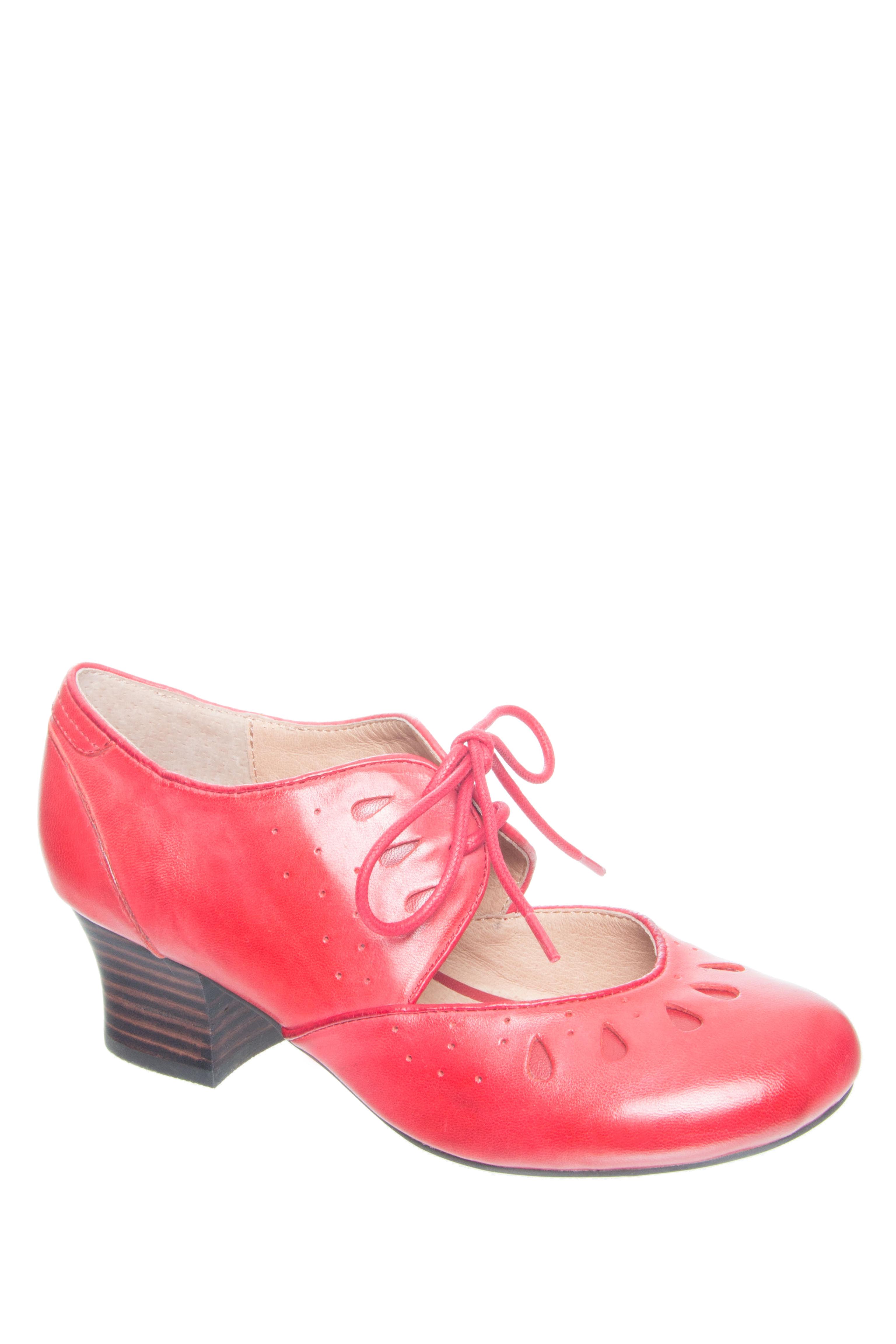 MIZ MOOZ Fordham Eyelet Heels - Red