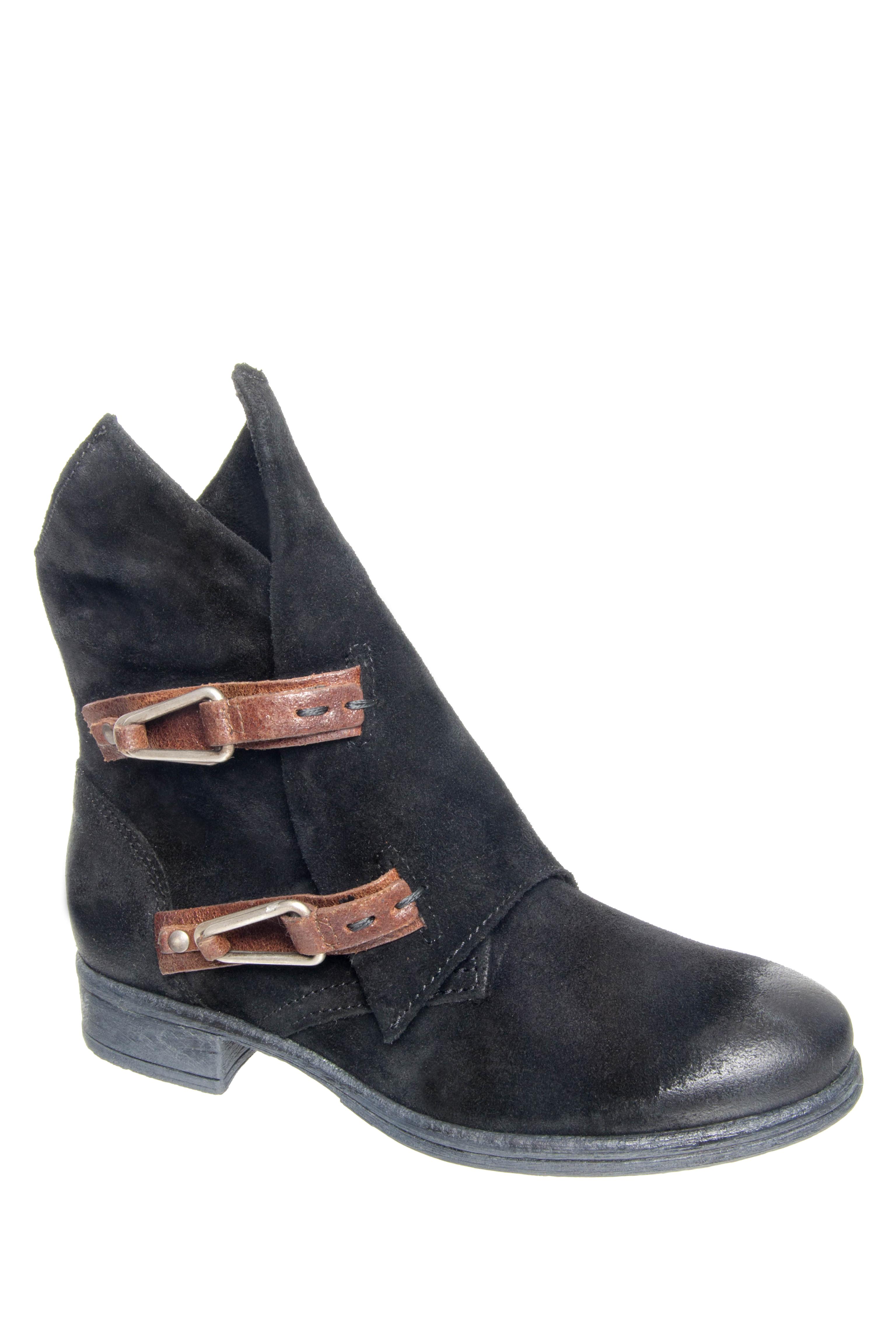 Miz Mooz Yeats Low Heel Zip Boots - Black