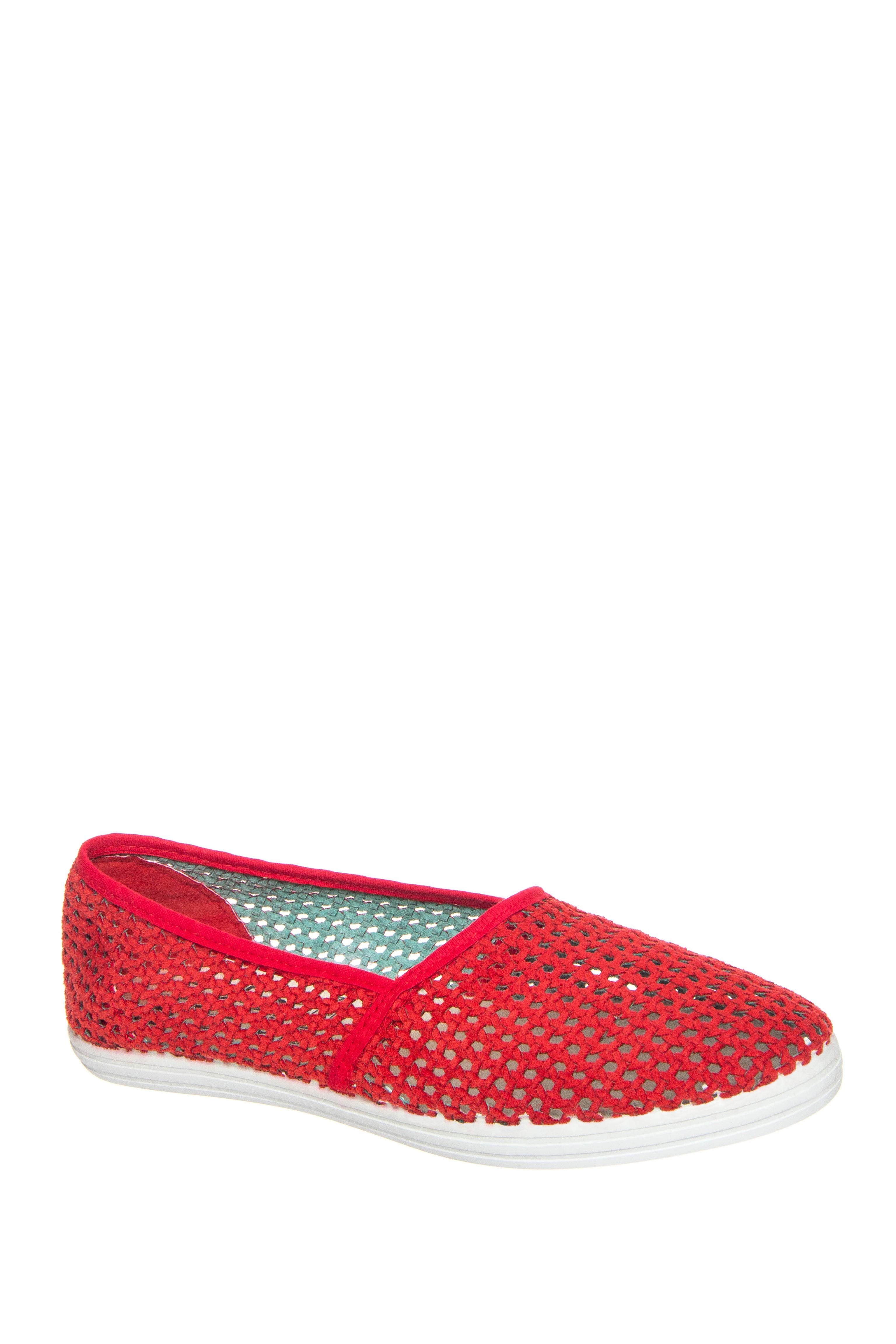 Miz Mooz Breeze Weave Flats - Red