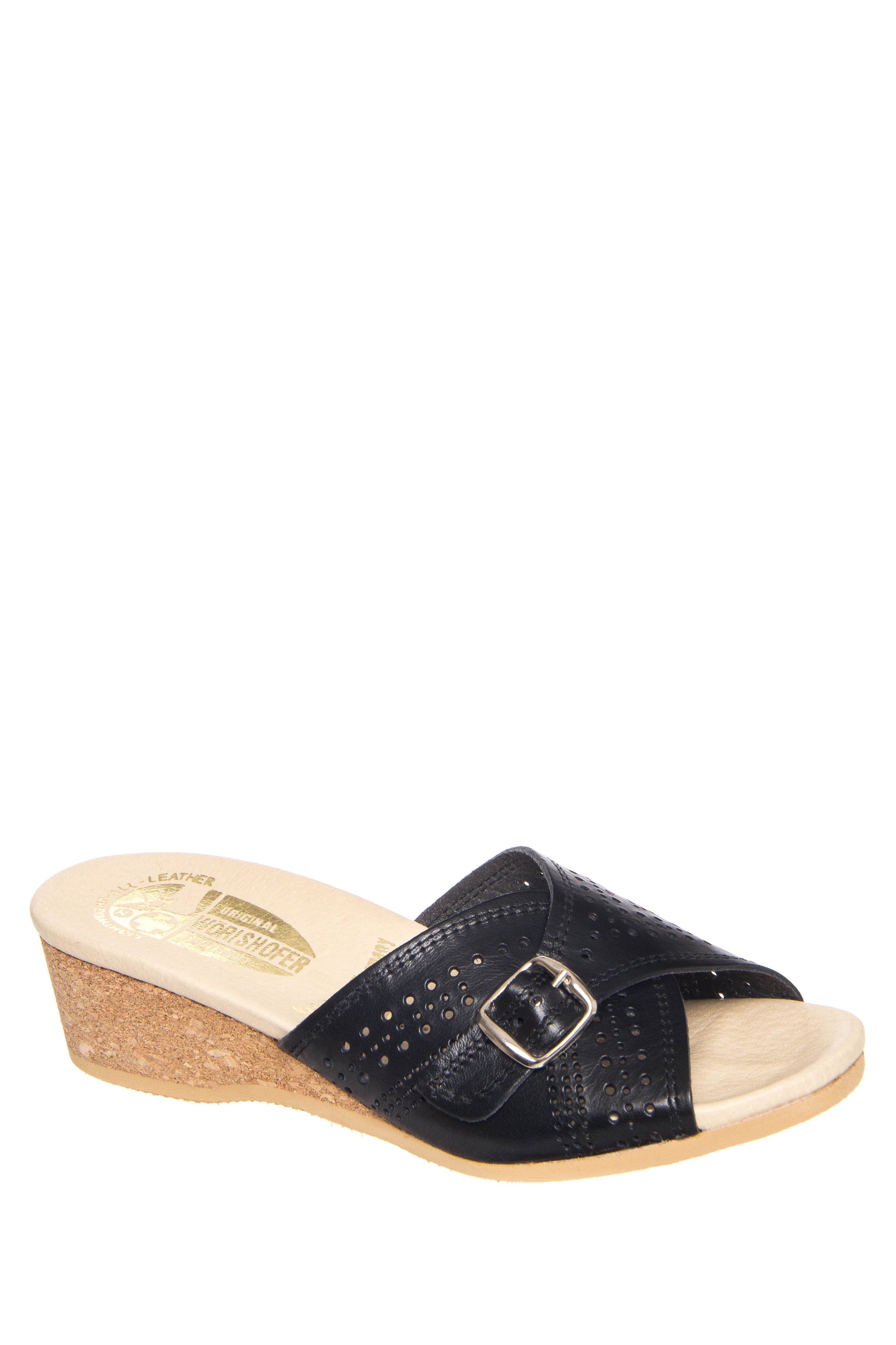 Worishofer 251 Low Wedge Sandals - Black