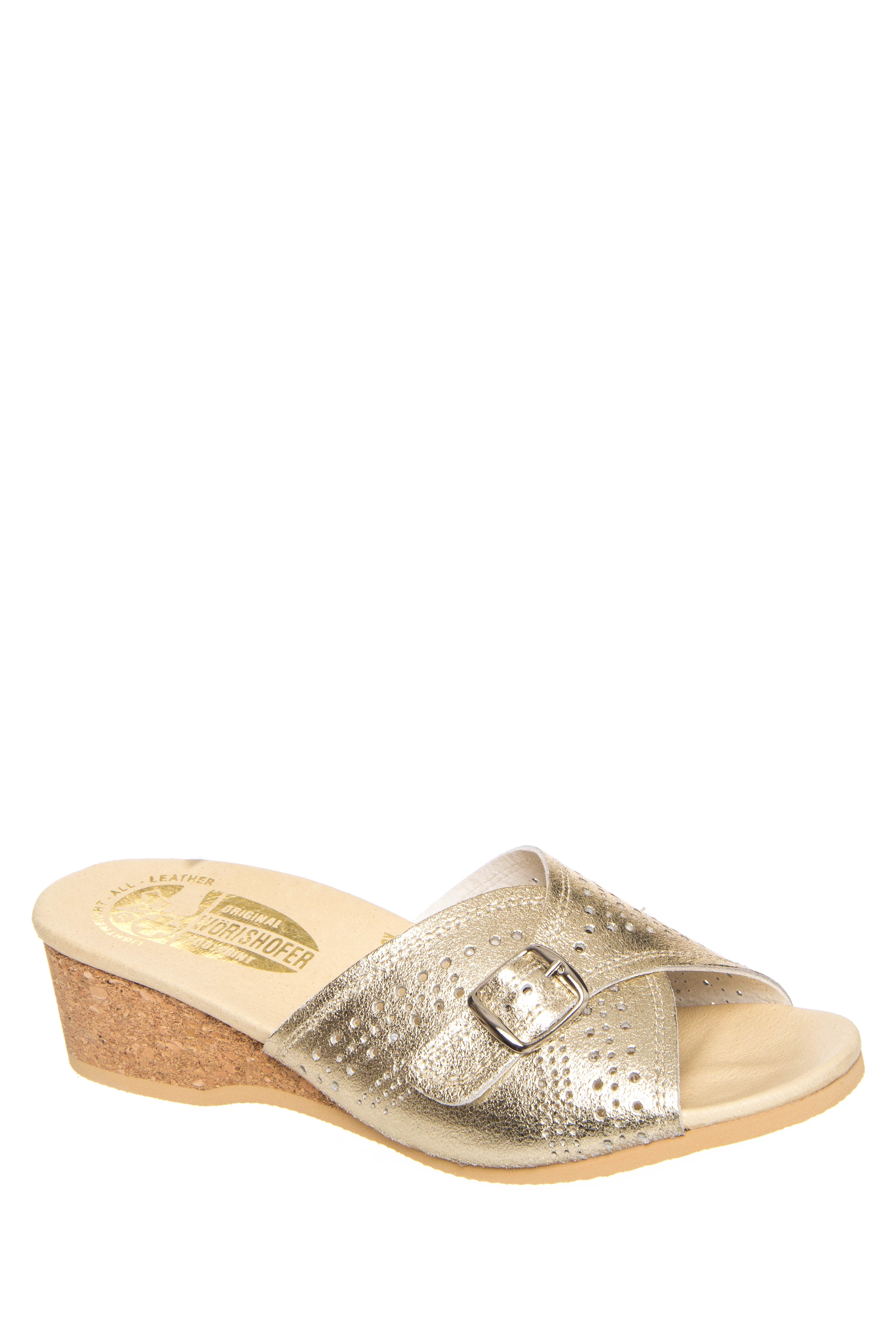 Worishofer 251 Low Wedge Sandals - Gold