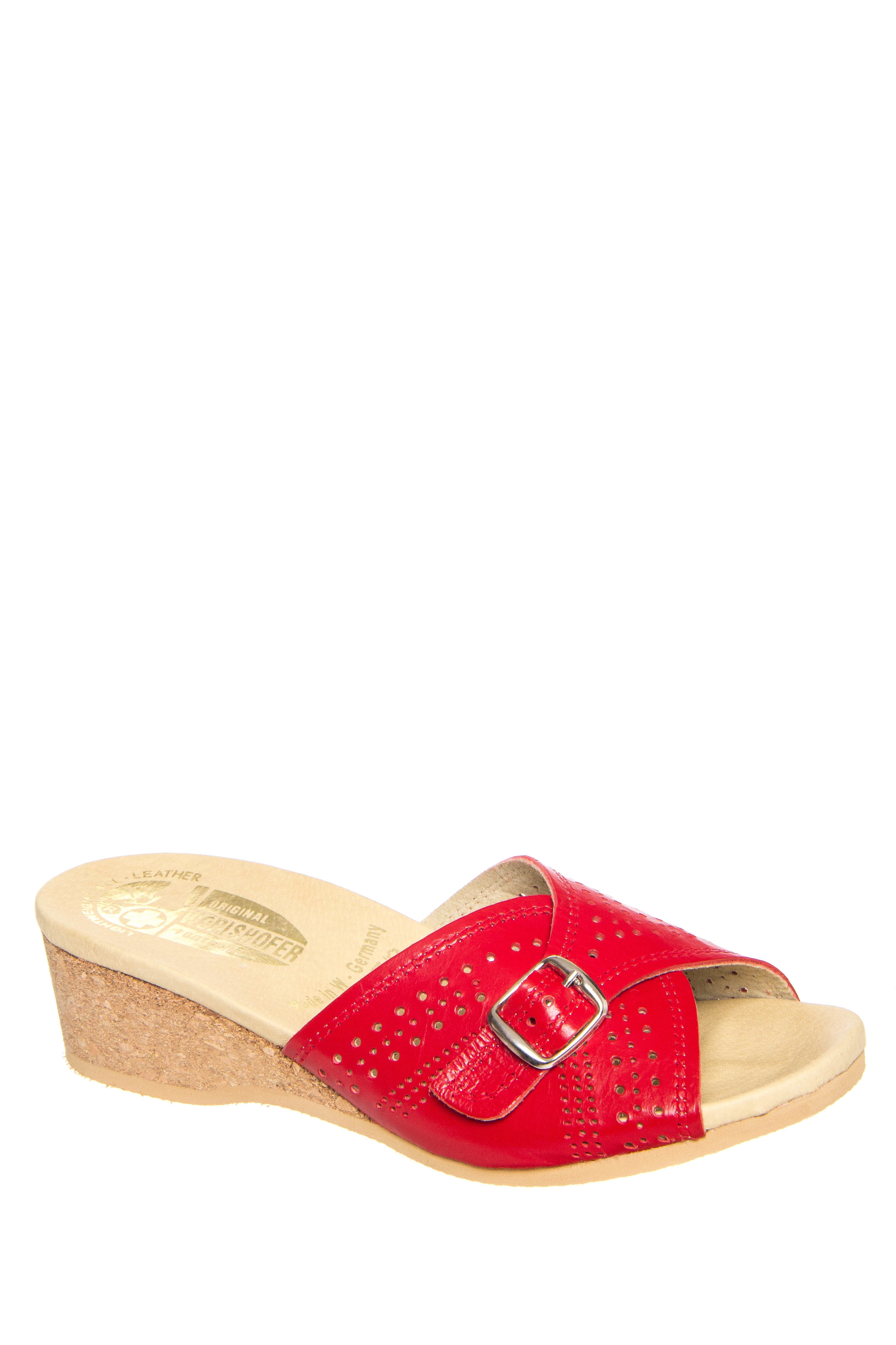 Worishofer 251 Low Wedge Sandals - Red