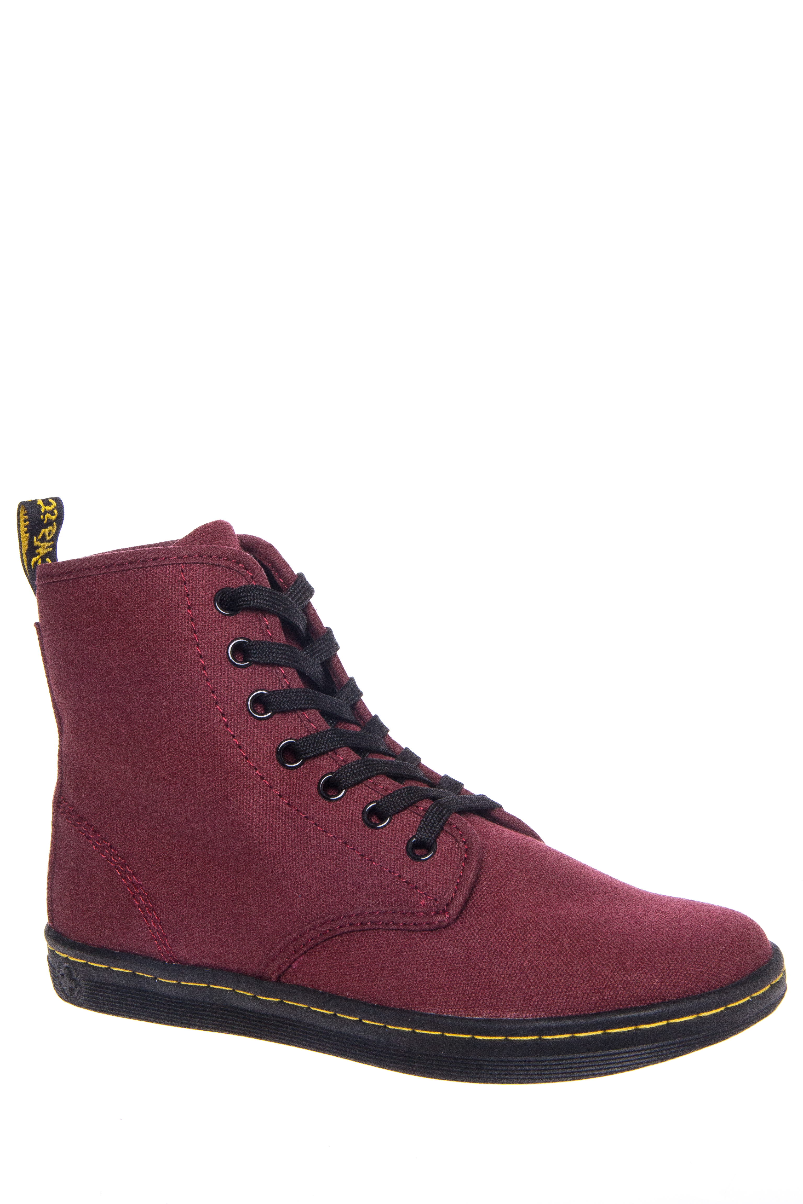 Dr. Martens Shoreditch Canvas High Top Sneakers - Cherry Red Canvas