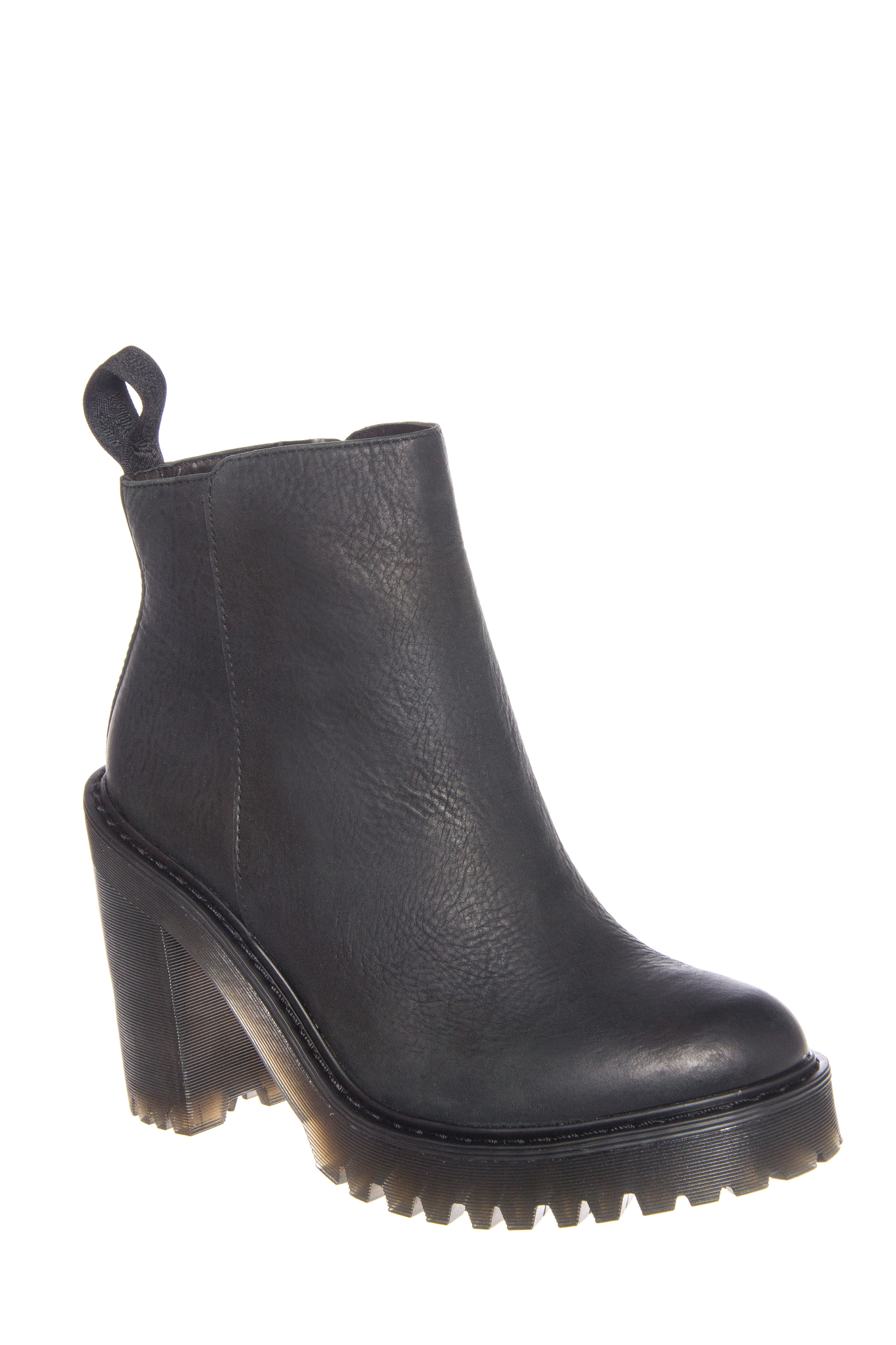 Dr. Martens Magdalena Fur-Lined High Heel Zip Booties - Black