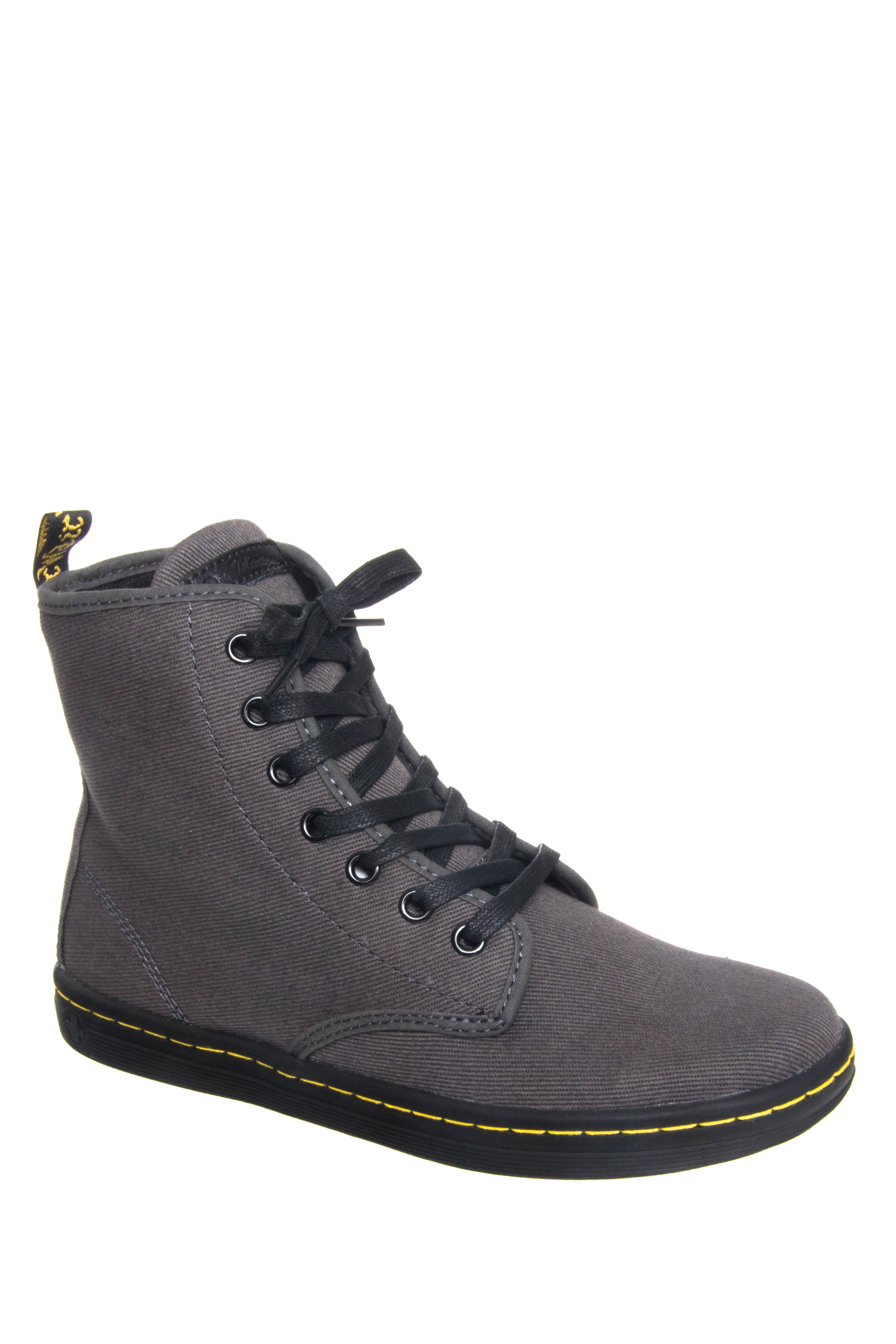 Dr. Martens Shoreditch Overdyed Canvas Boots - Lead