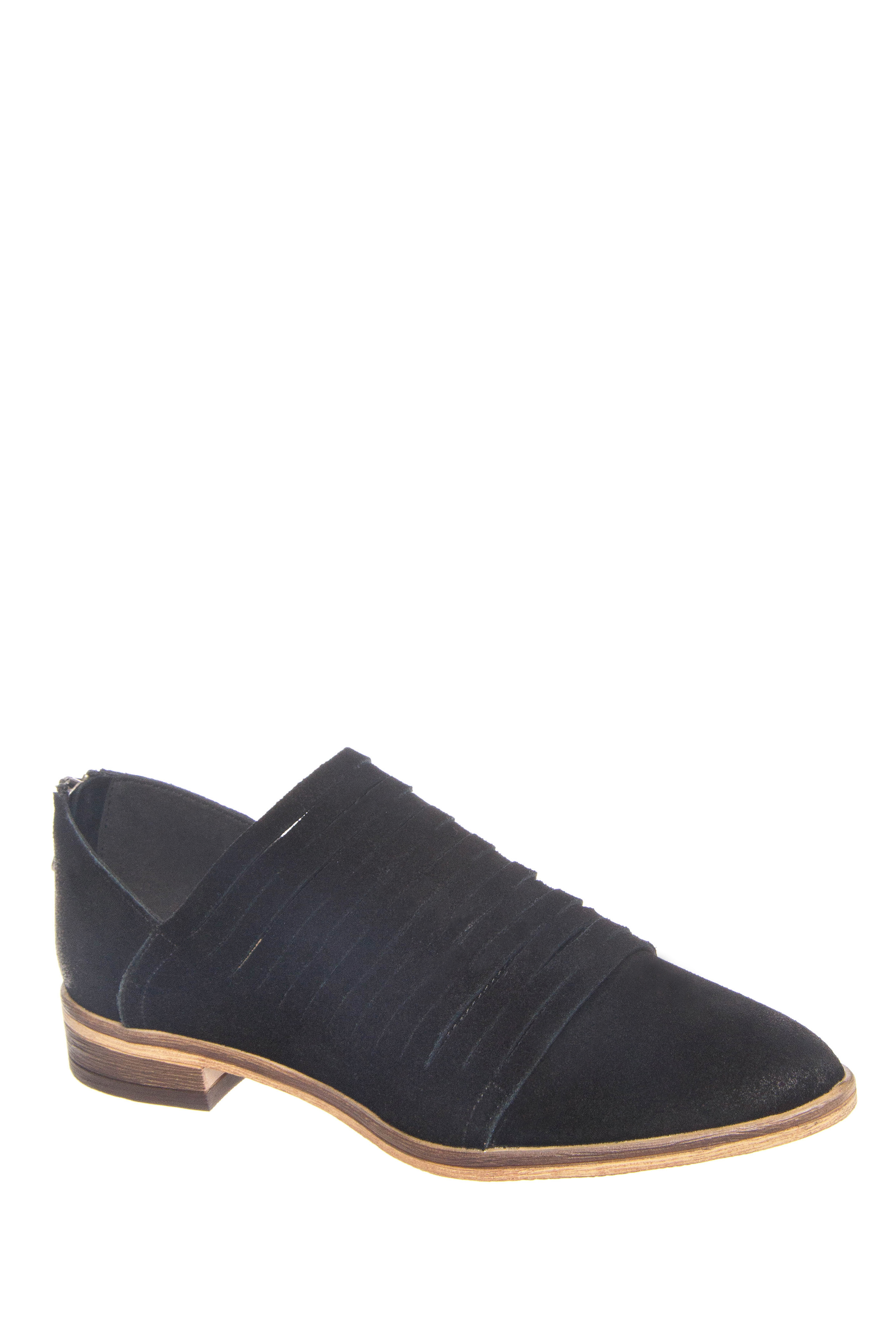 Chinese Laundry Danika Flats Suede Booties - Black Suede
