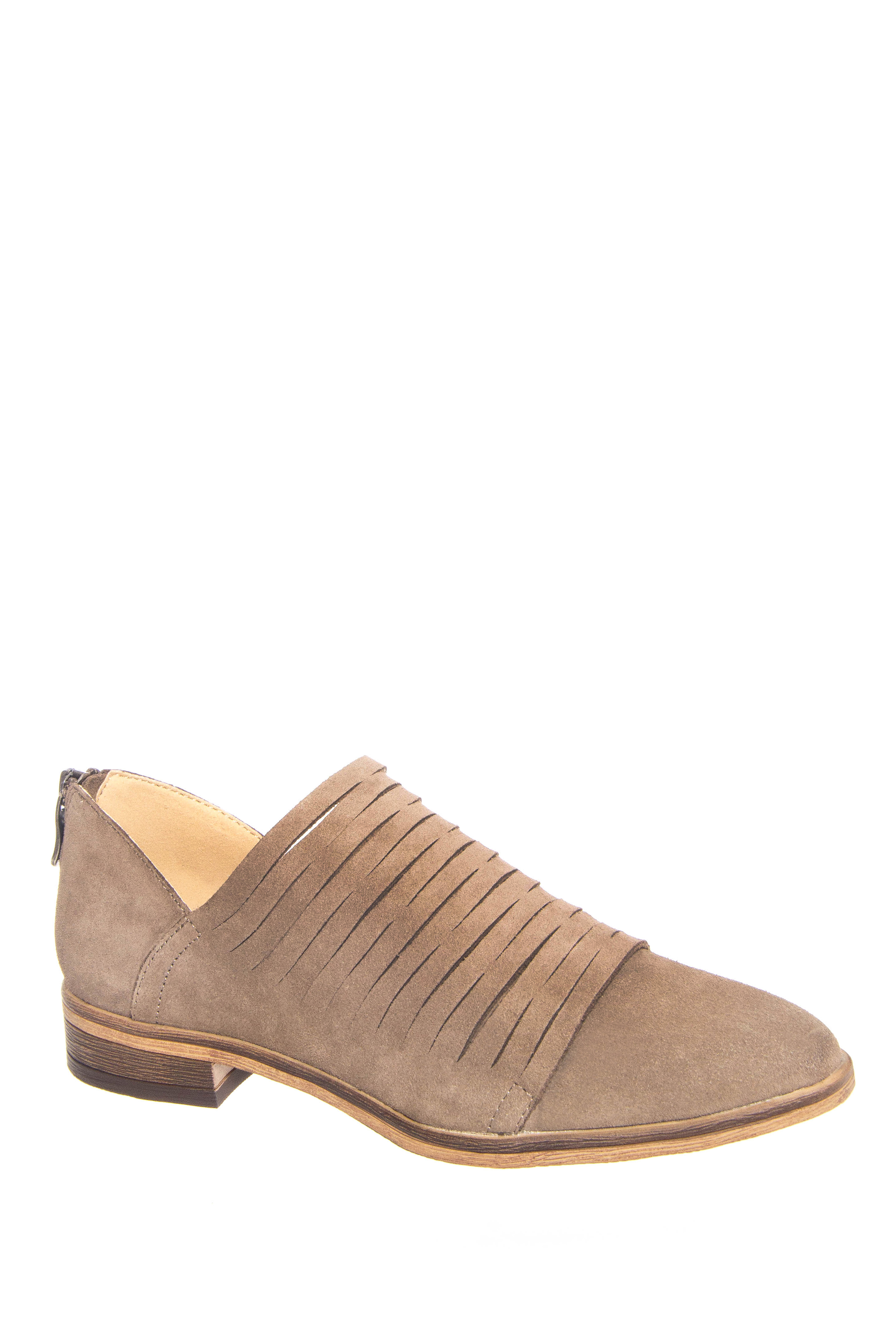 Chinese Laundry Danika Flats Suede Booties - Taupe Suede