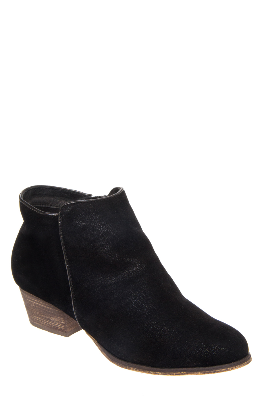 Chelsea Crew Dealer Low Heel Booties - Black