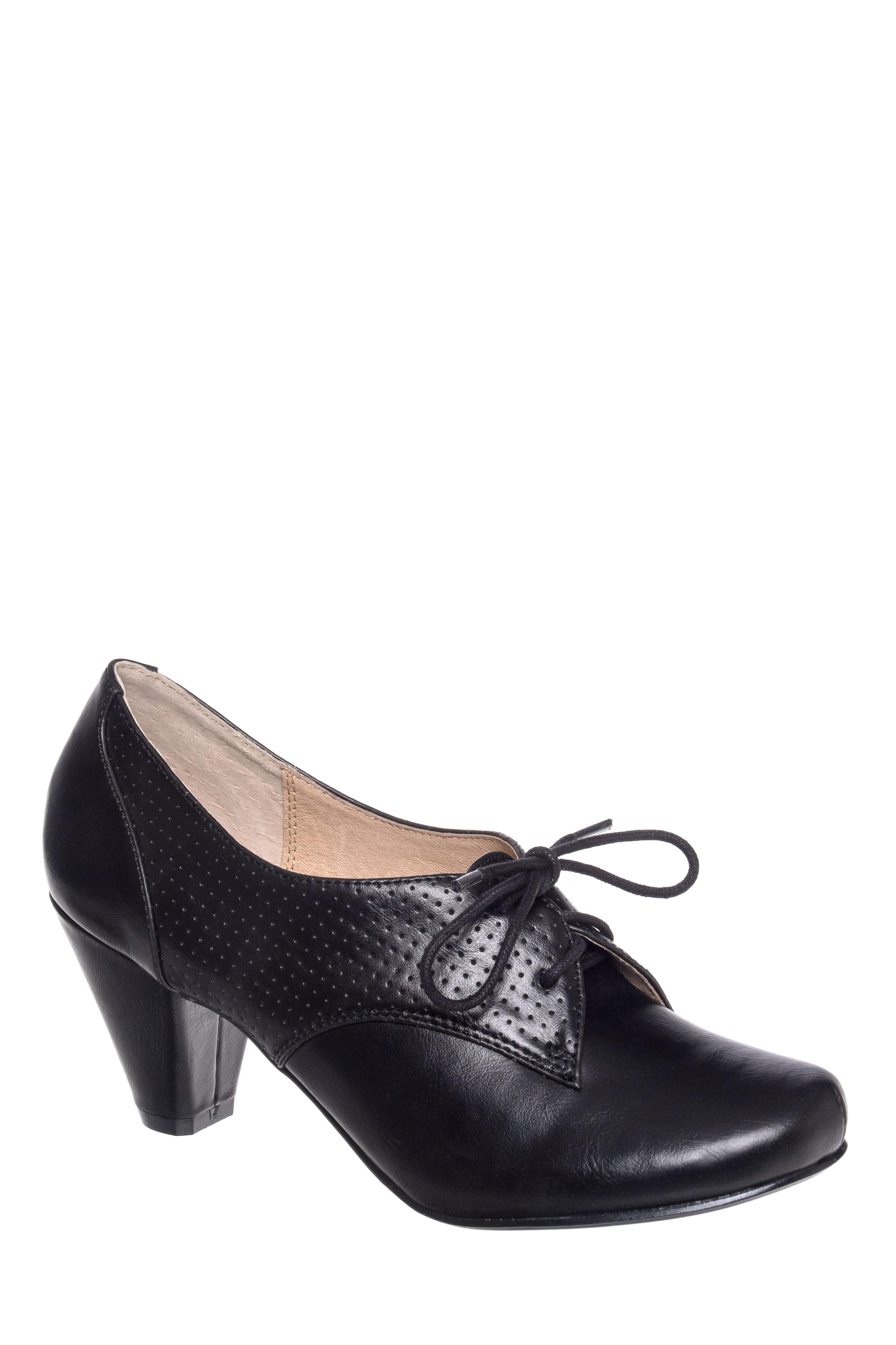 Matis Lace Up Mid Heel Pump $64.99 AT vintagedancer.com