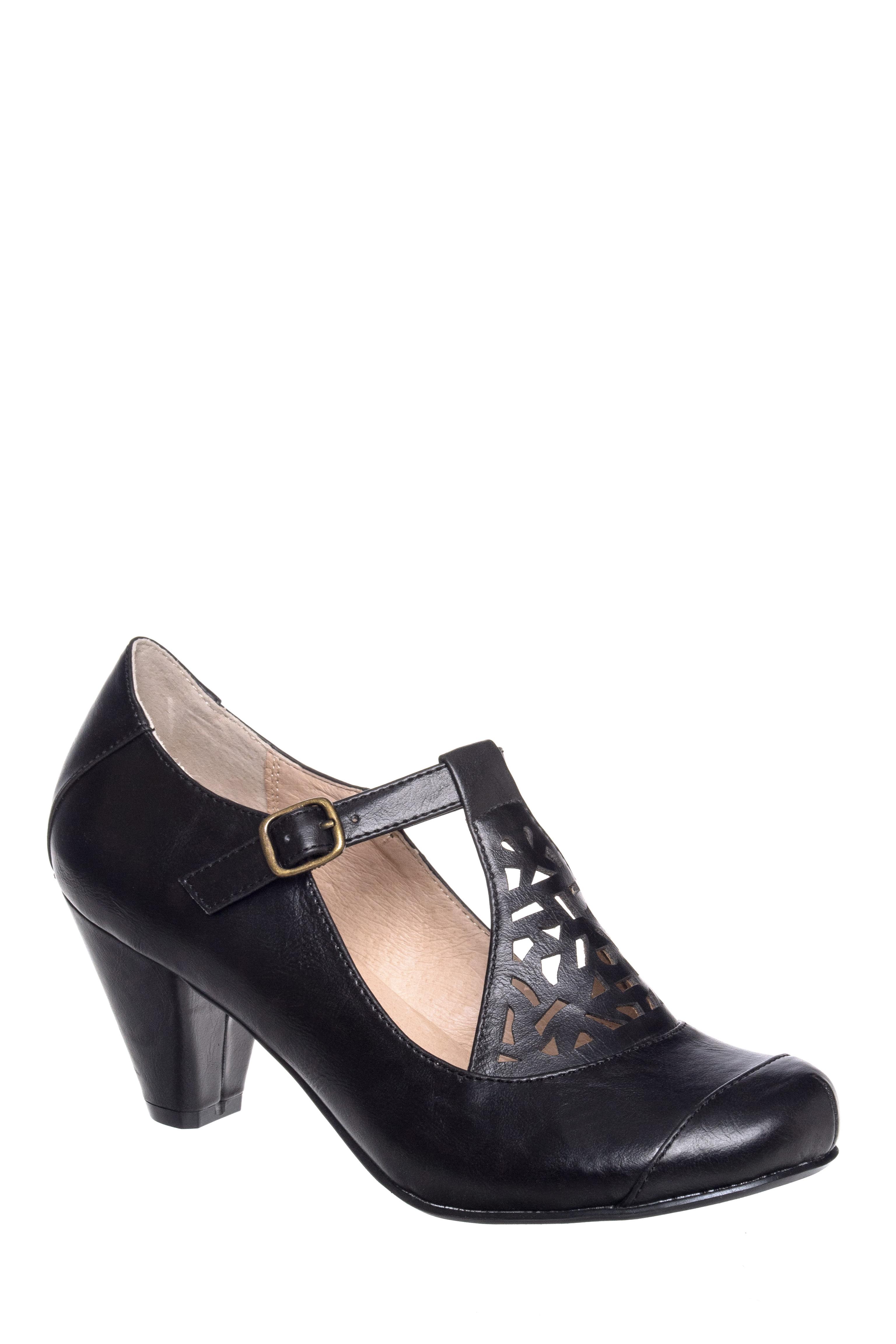 Mod Mary Jane Mid Heel Pump $64.99 AT vintagedancer.com