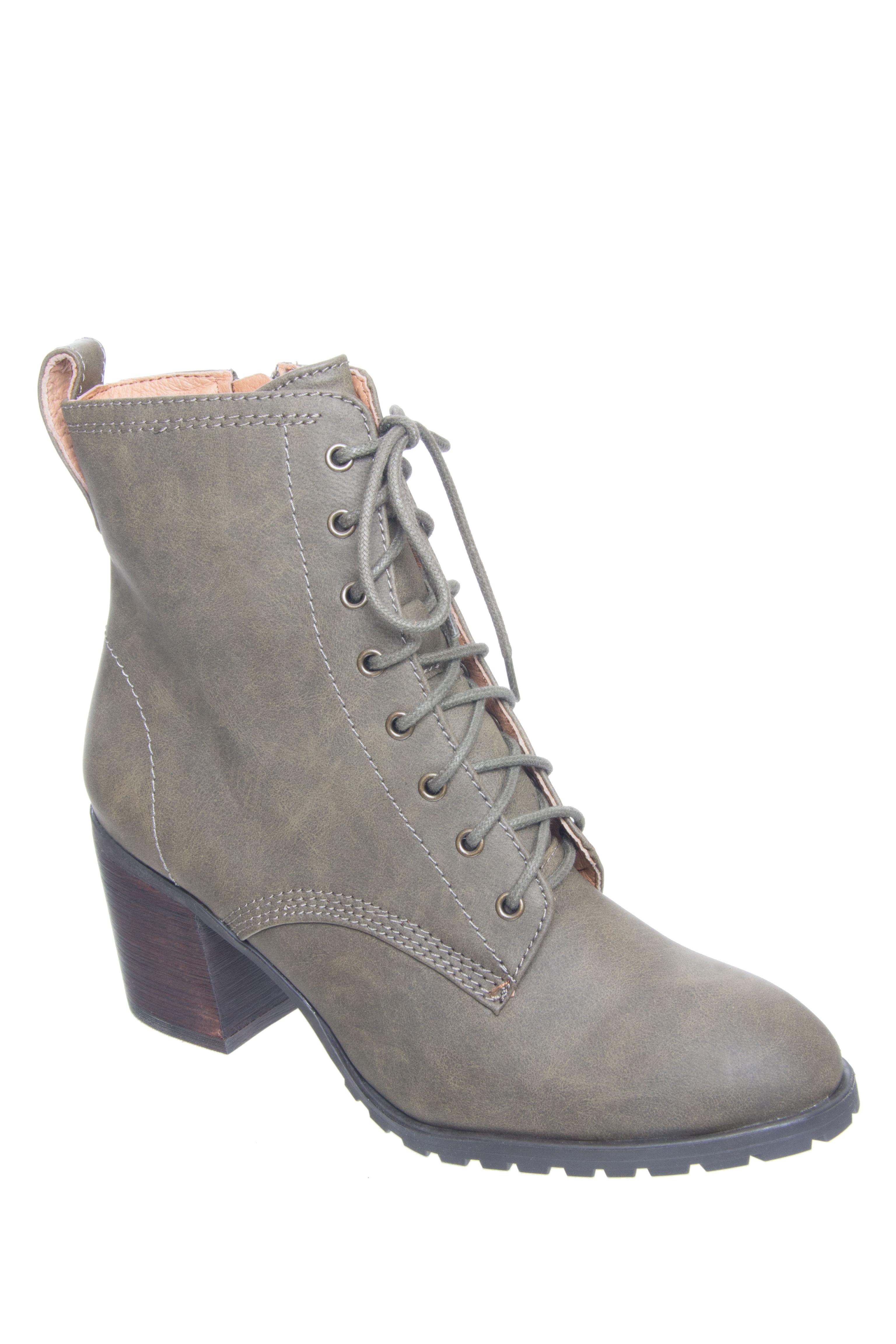 Chelsea Crew Tomboy Zip Boots - Khaki