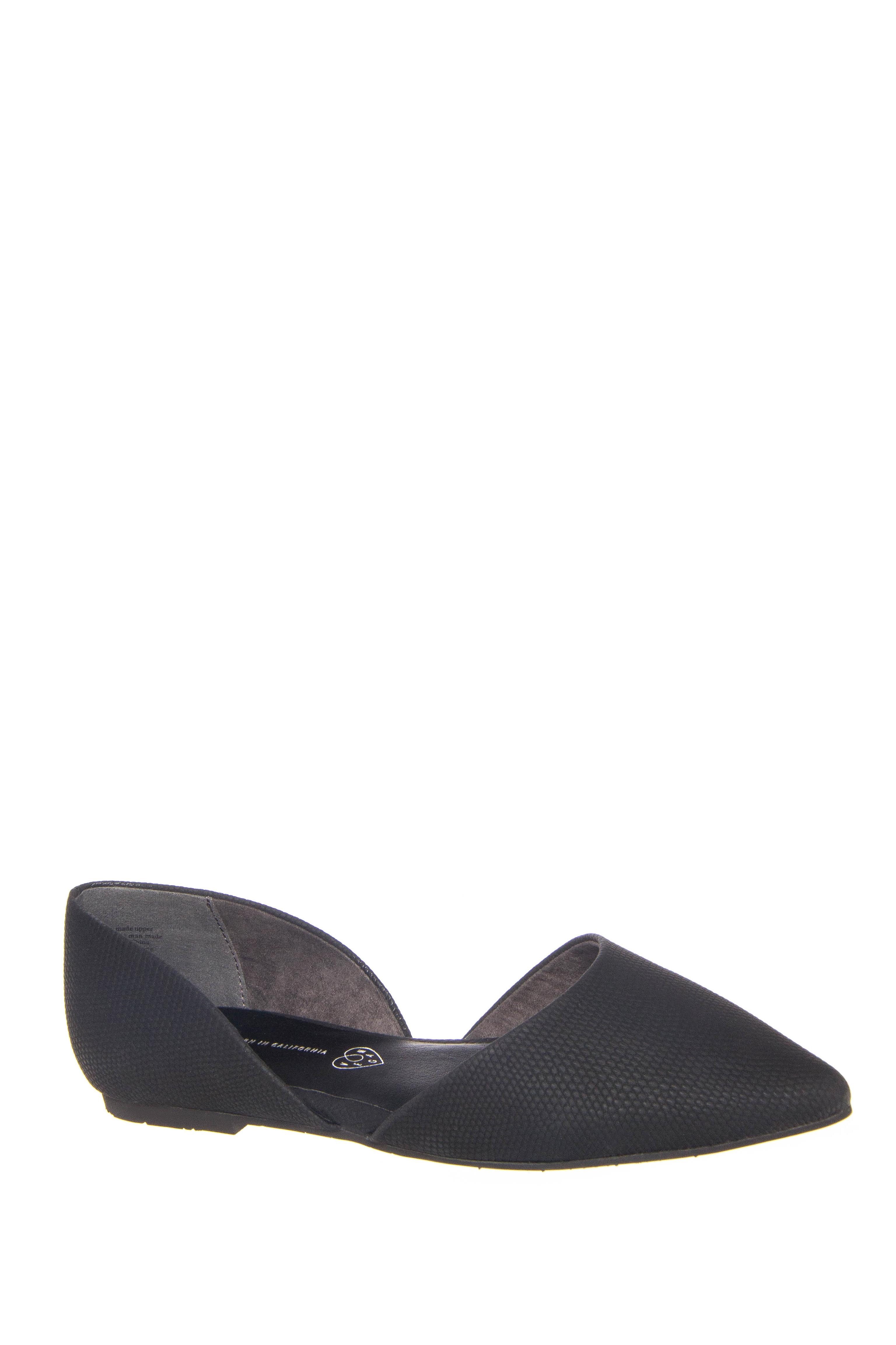 BC Footwear Society d'Orsay Flats - Black Lizard