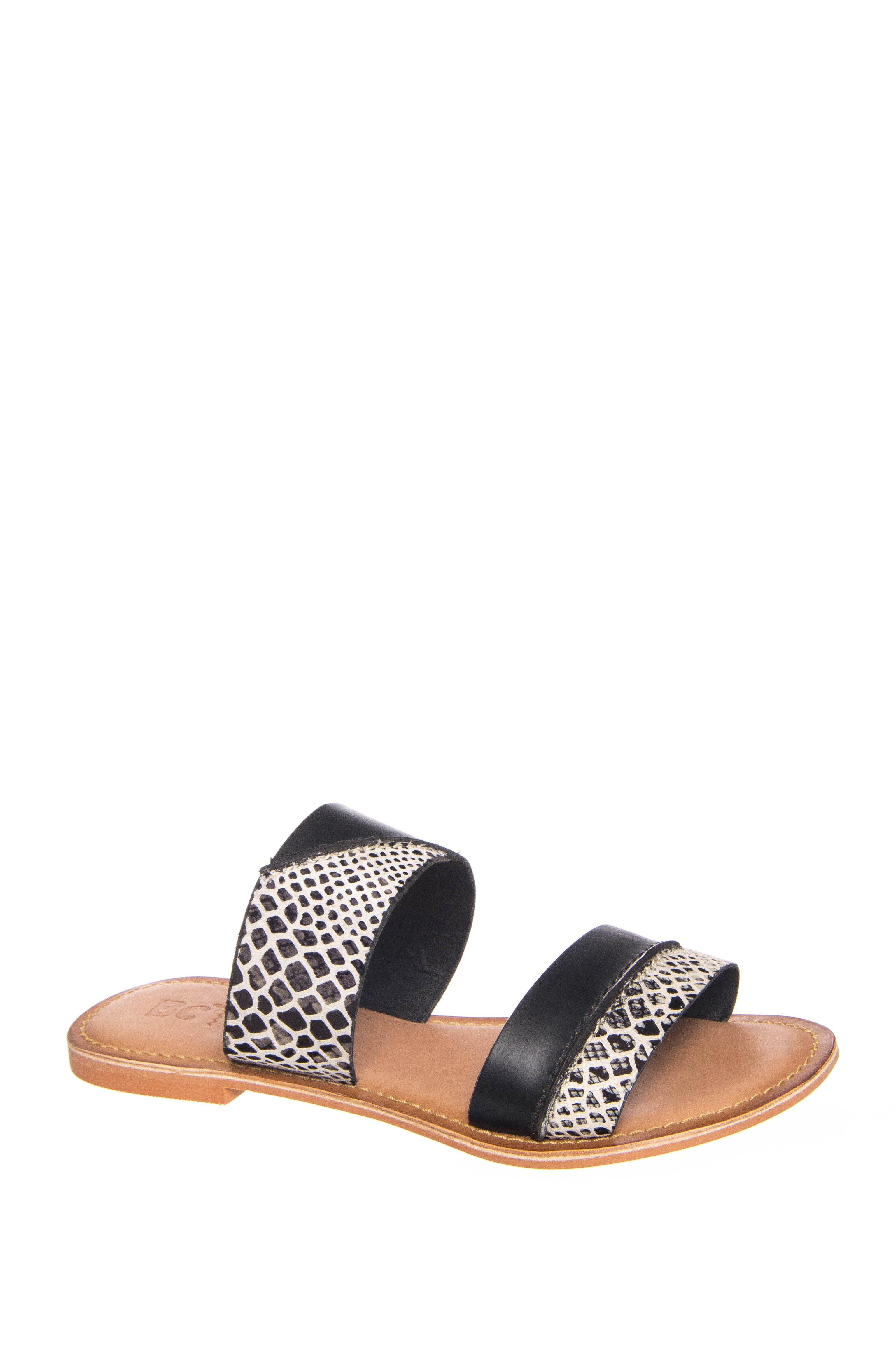BC Footwear On The Spot Flats Sandals - Black Multi