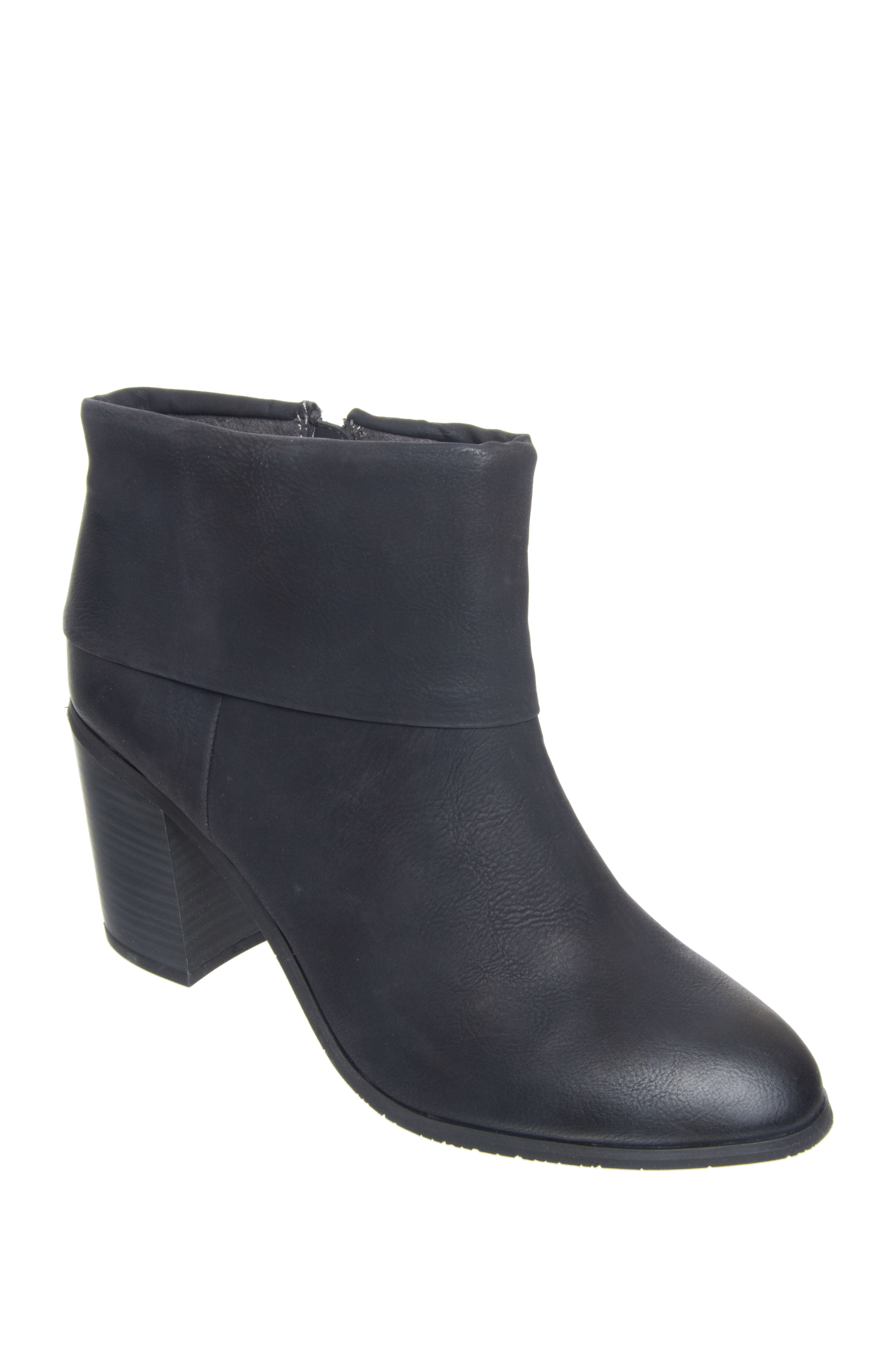 BC Footwear Band II Cuffed Ankle Booties - Black