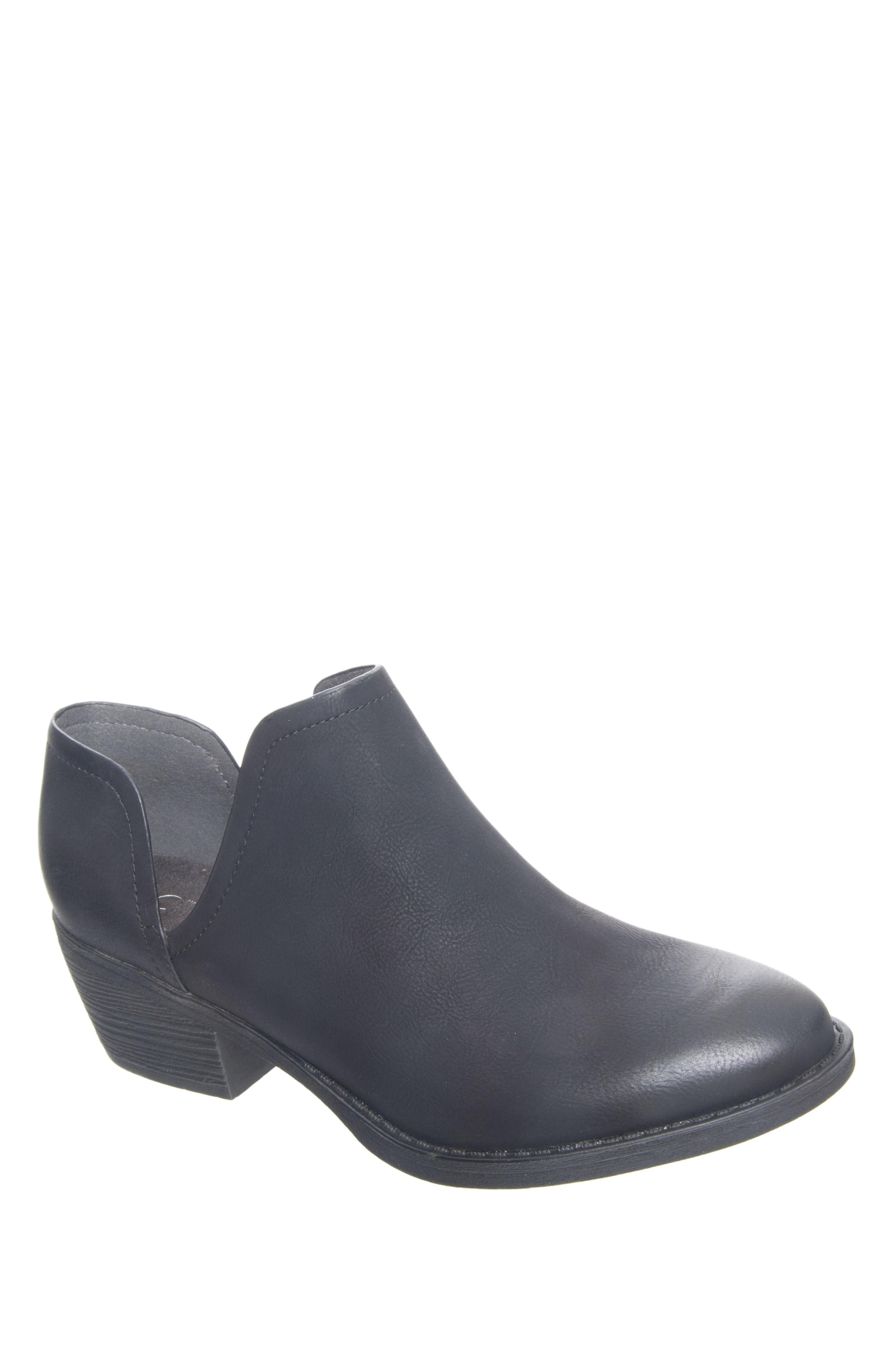 BC Footwear Flame Low Ankle Booties - Black