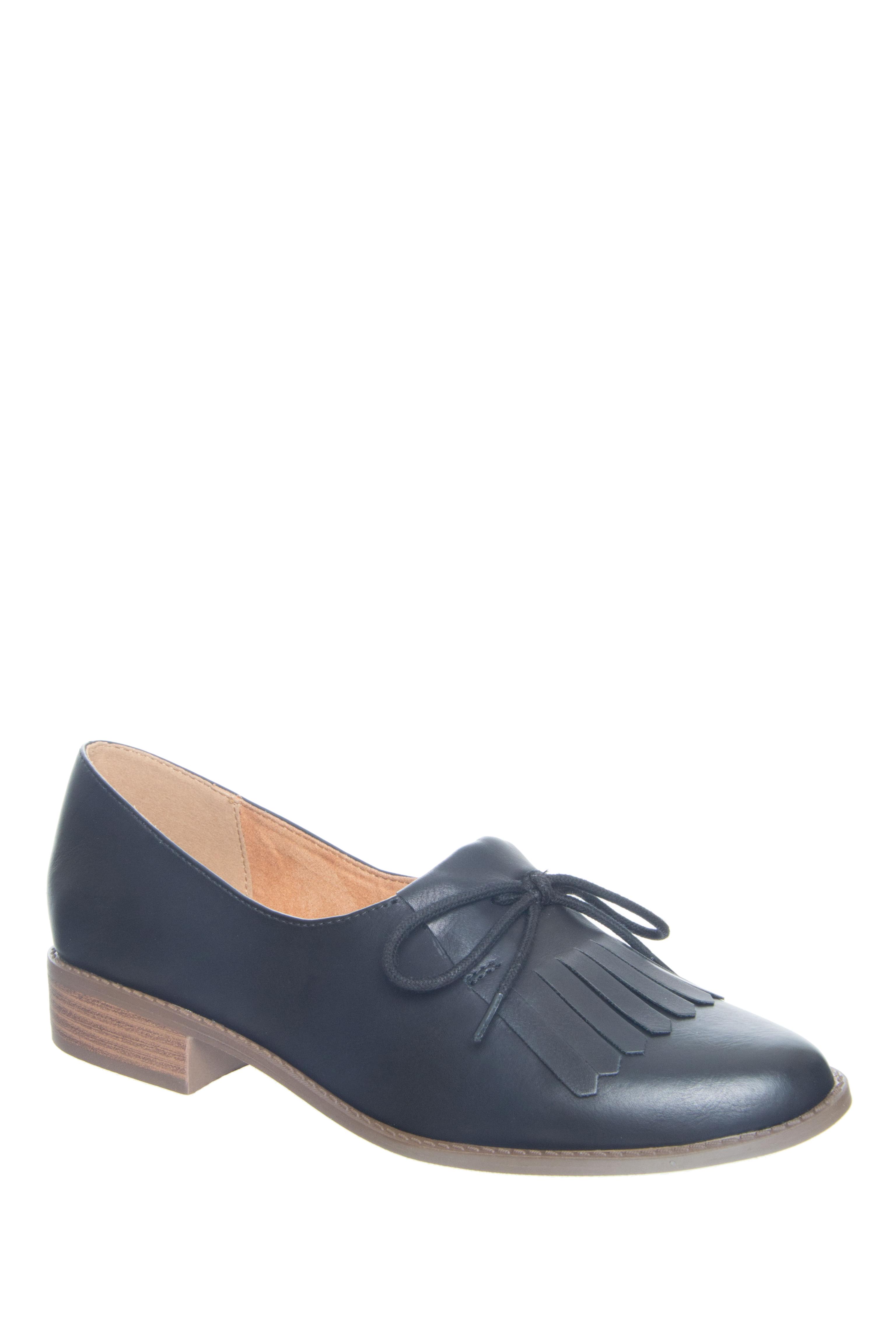 BC Footwear Flash Low Heel Loafers - Black