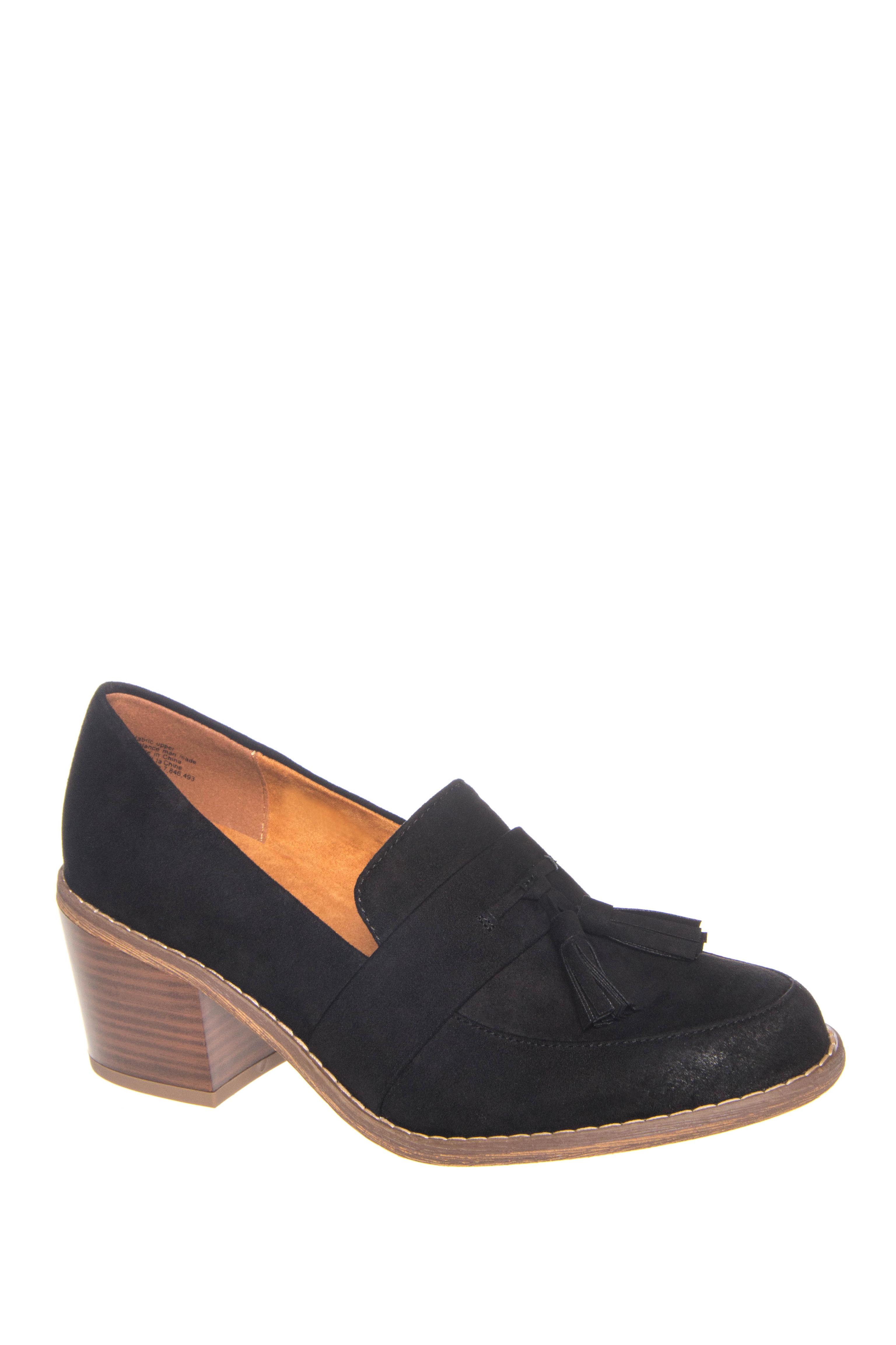BC Footwear Radiate Mid Heel Loafers - Black