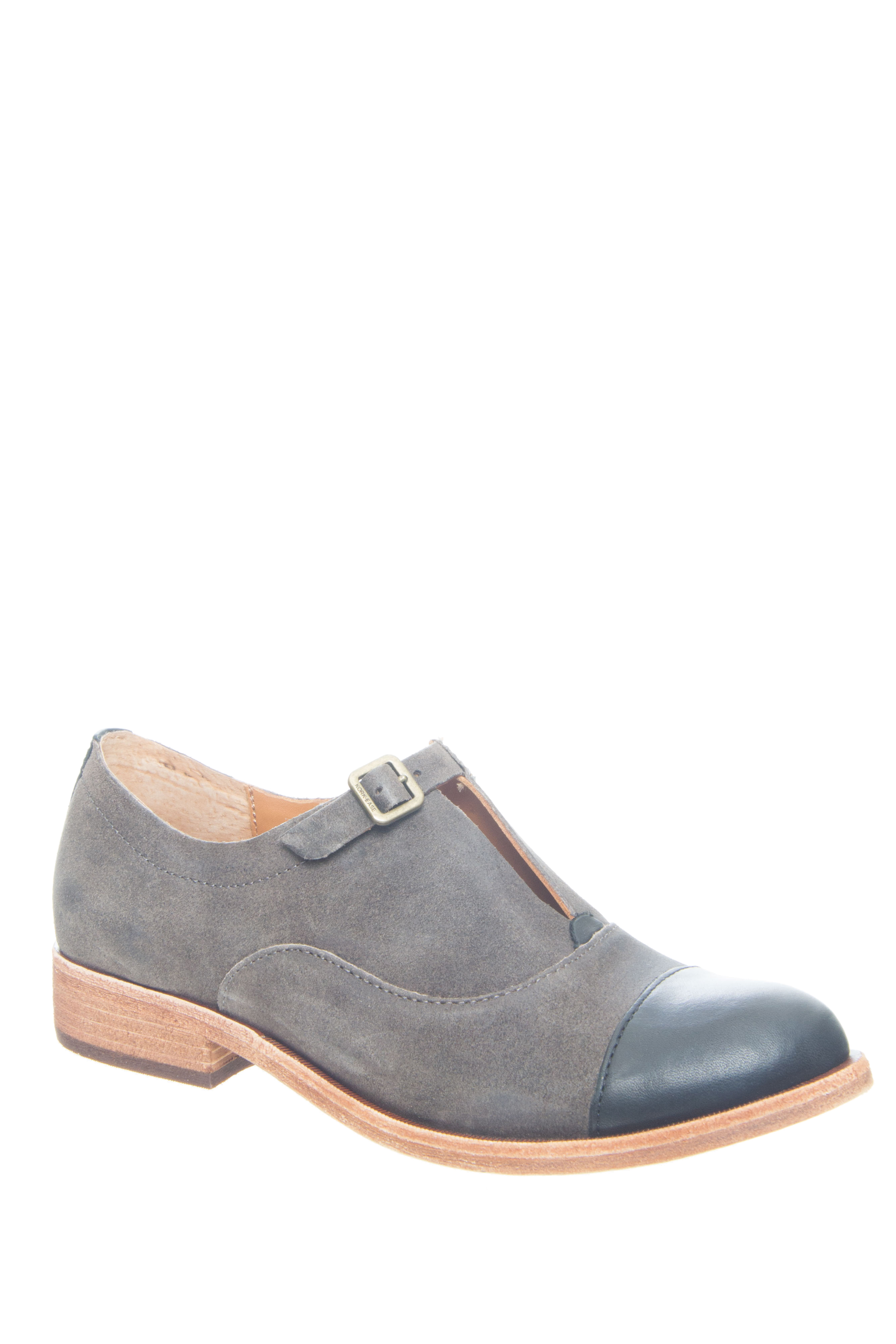 Kork-Ease Niseda Low Heel Oxford - Dark Grey / Taupe / Black Combo