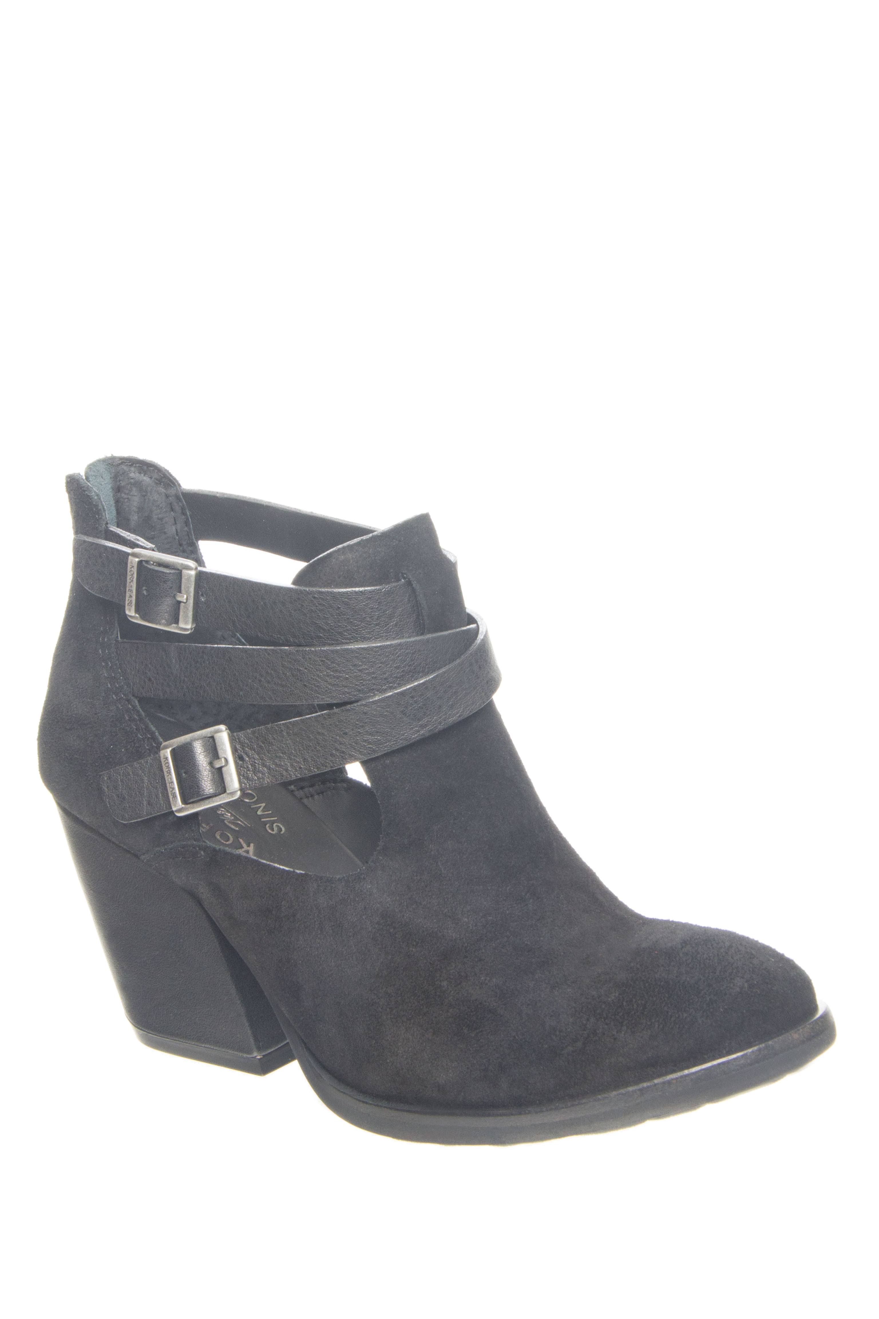 Kork-Ease Stina High Heel Booties - Black / Black / Black Combo