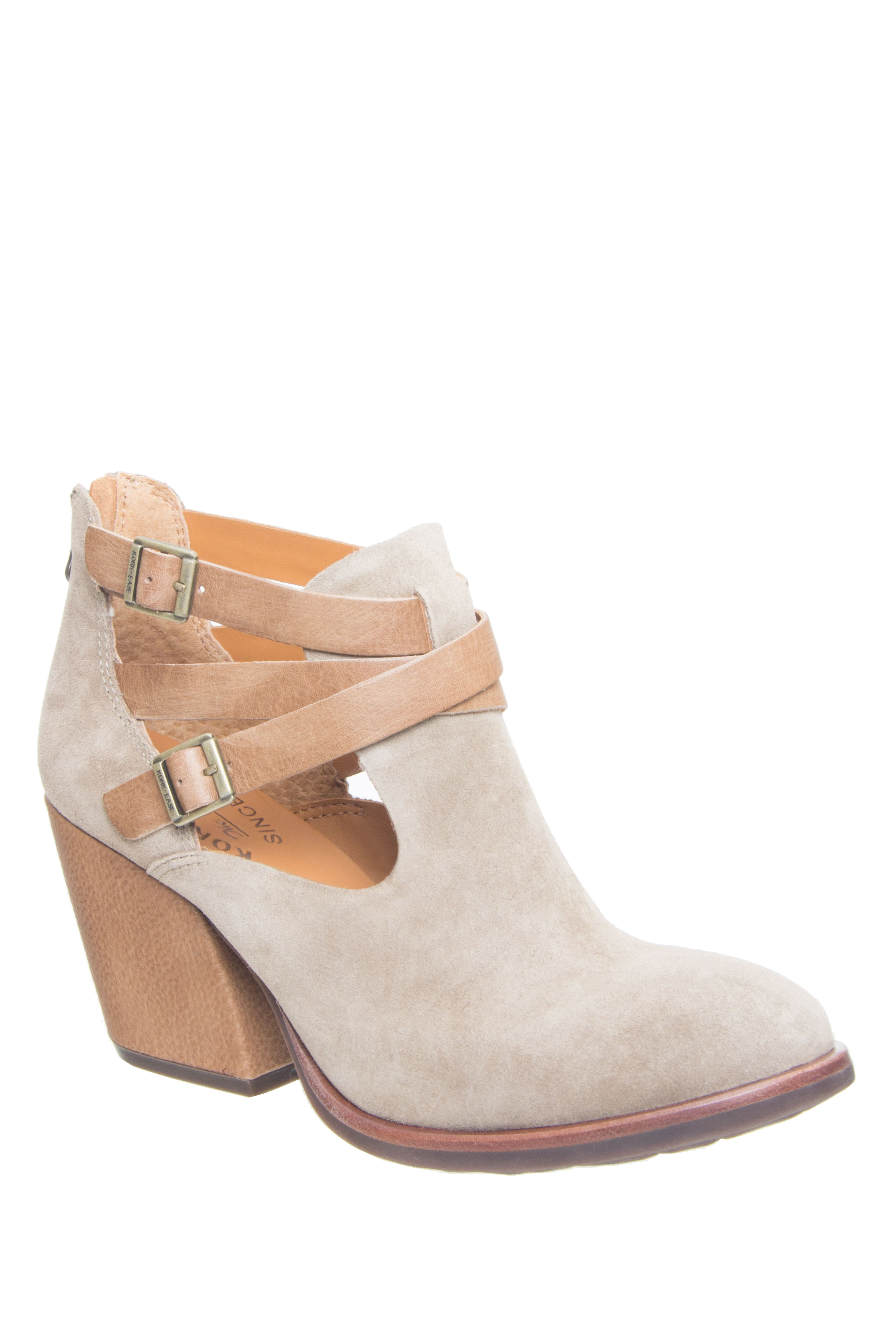 Kork-Ease Stina High Heel Booties - Taupe / Marmotta / Bison Combo