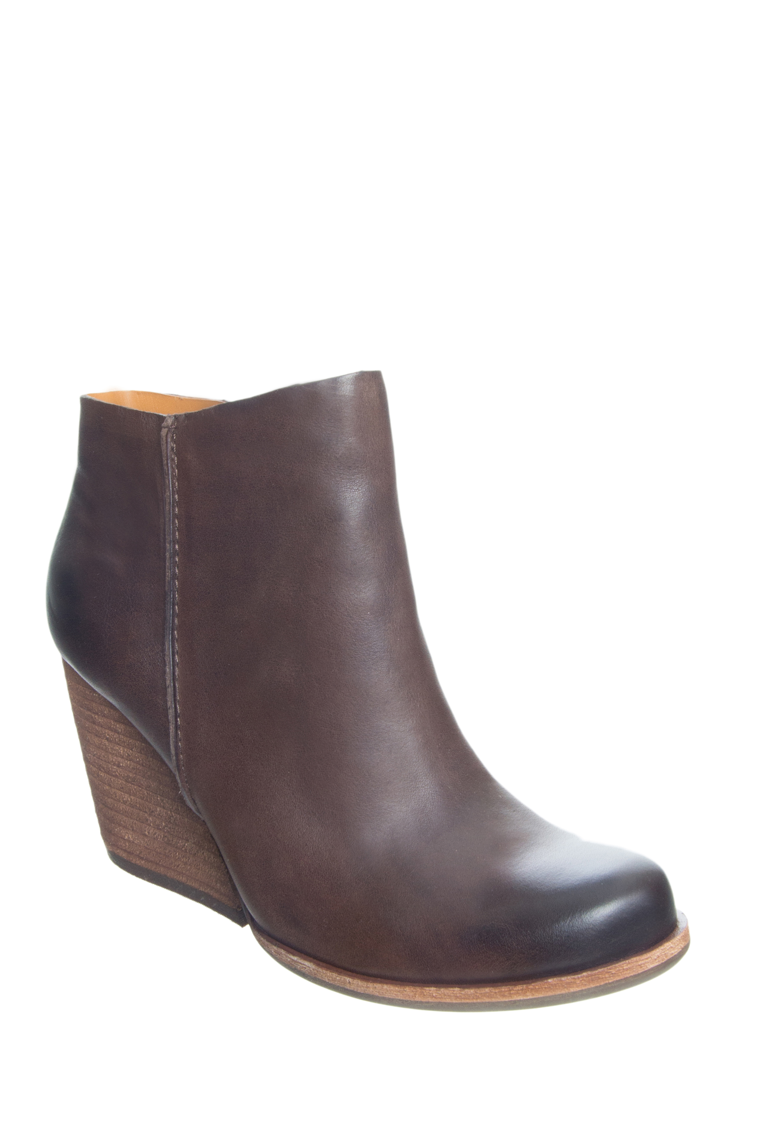 Kork-Ease Natalya High Heel Booties - Dark Brown