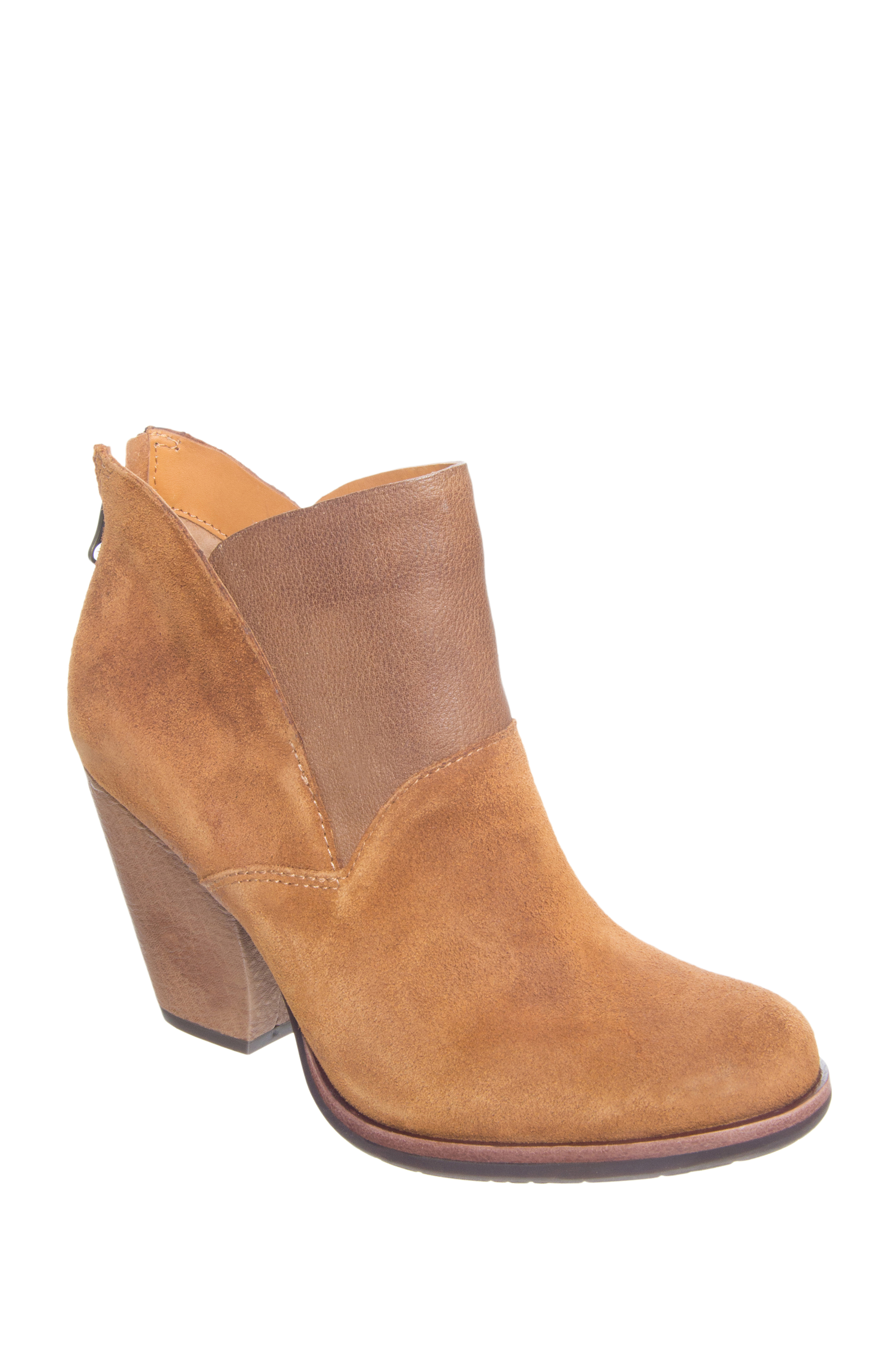 Kork-Ease Castaneda High Heel Booties - Tan Rust