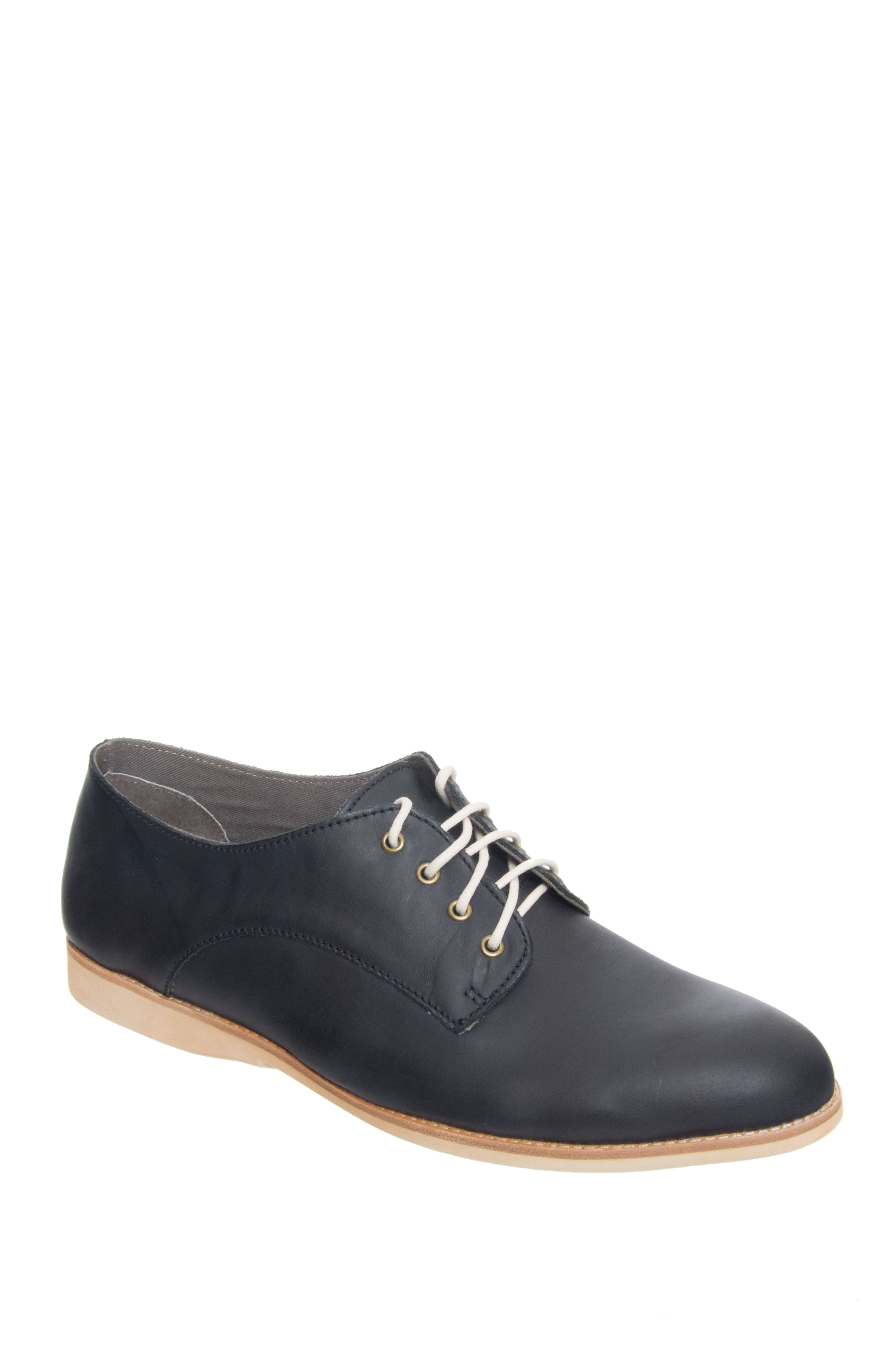 ROLLIE NATION Unisex Derby Low Heel Oxford - Black