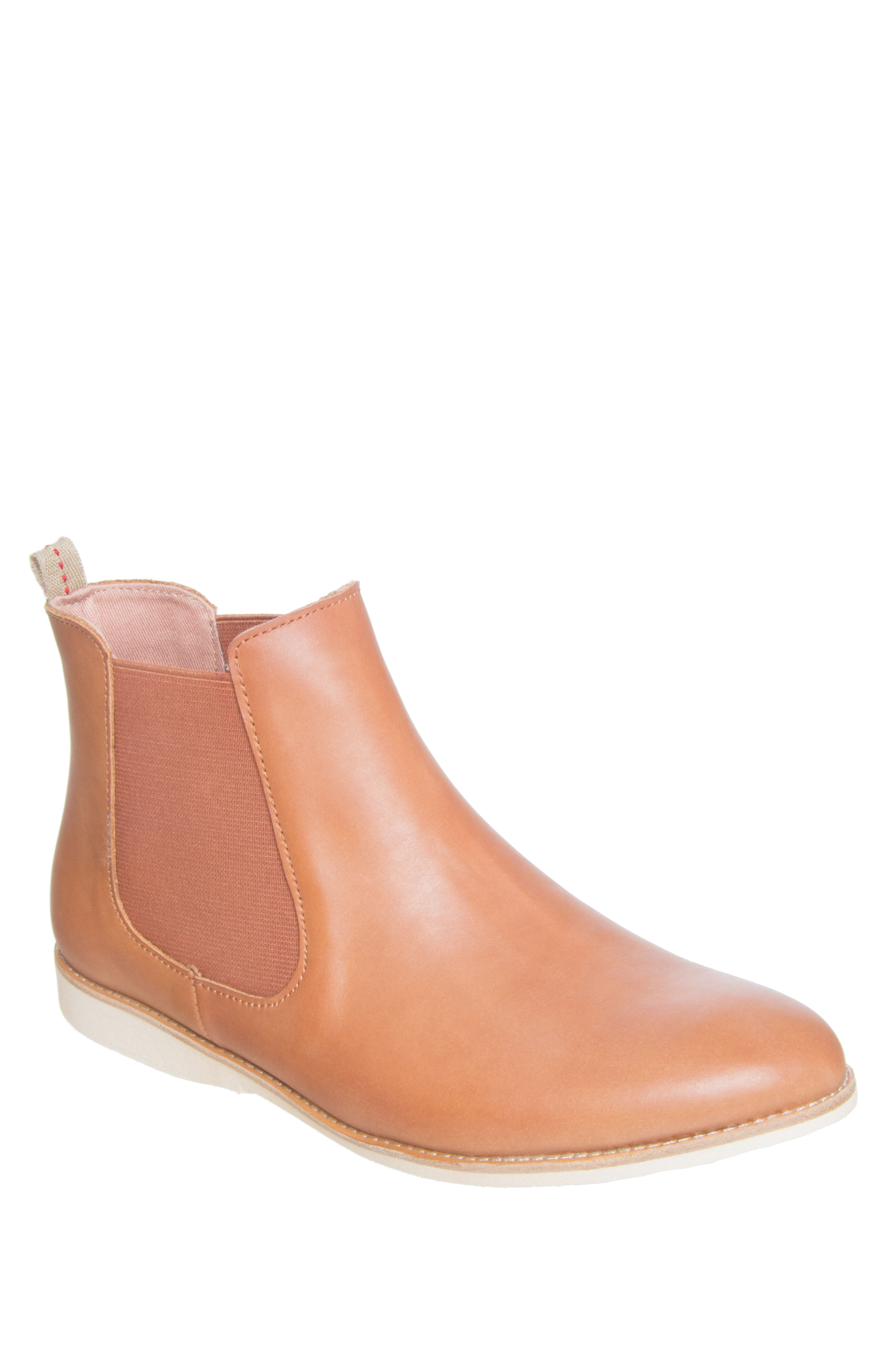 Rollie Nation Unisex Chelsea Low Heel Boots - Cognac