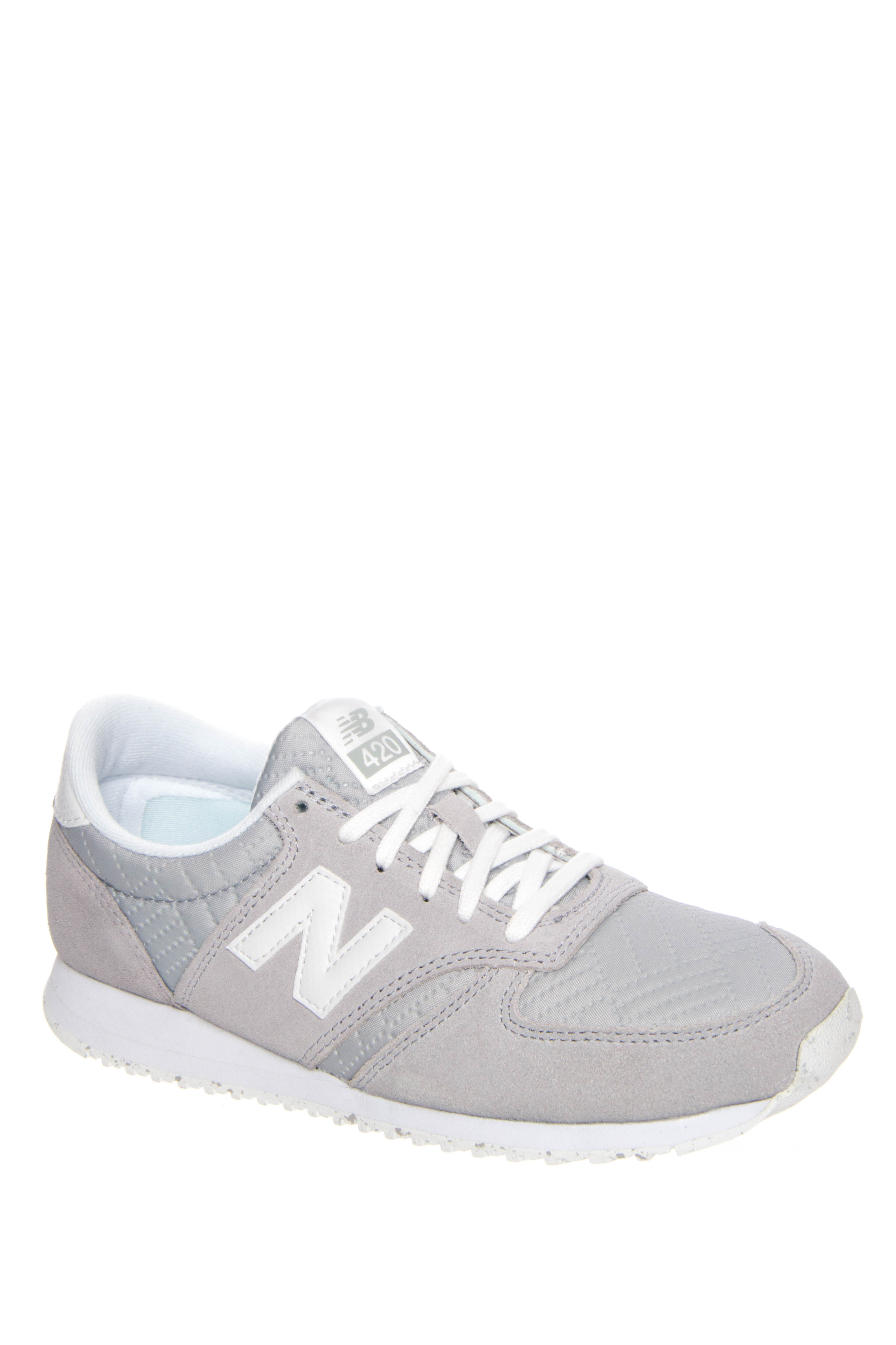New Balance 420 70s Running Low Top Sneakers - Silver Mink / White