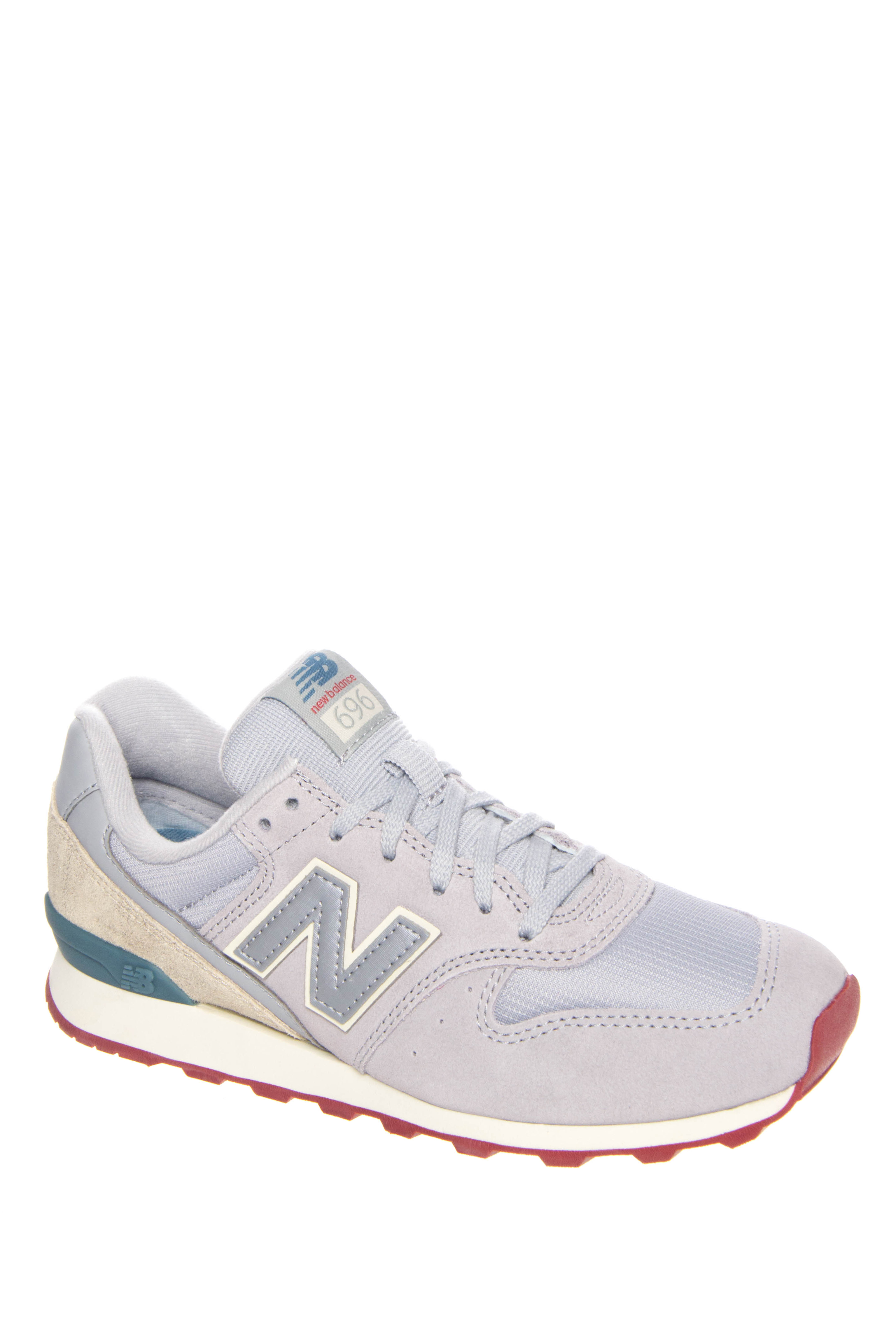 New Balance 696 Capsule Low Top Sneakers - Silver Mink / Powder / Riptide