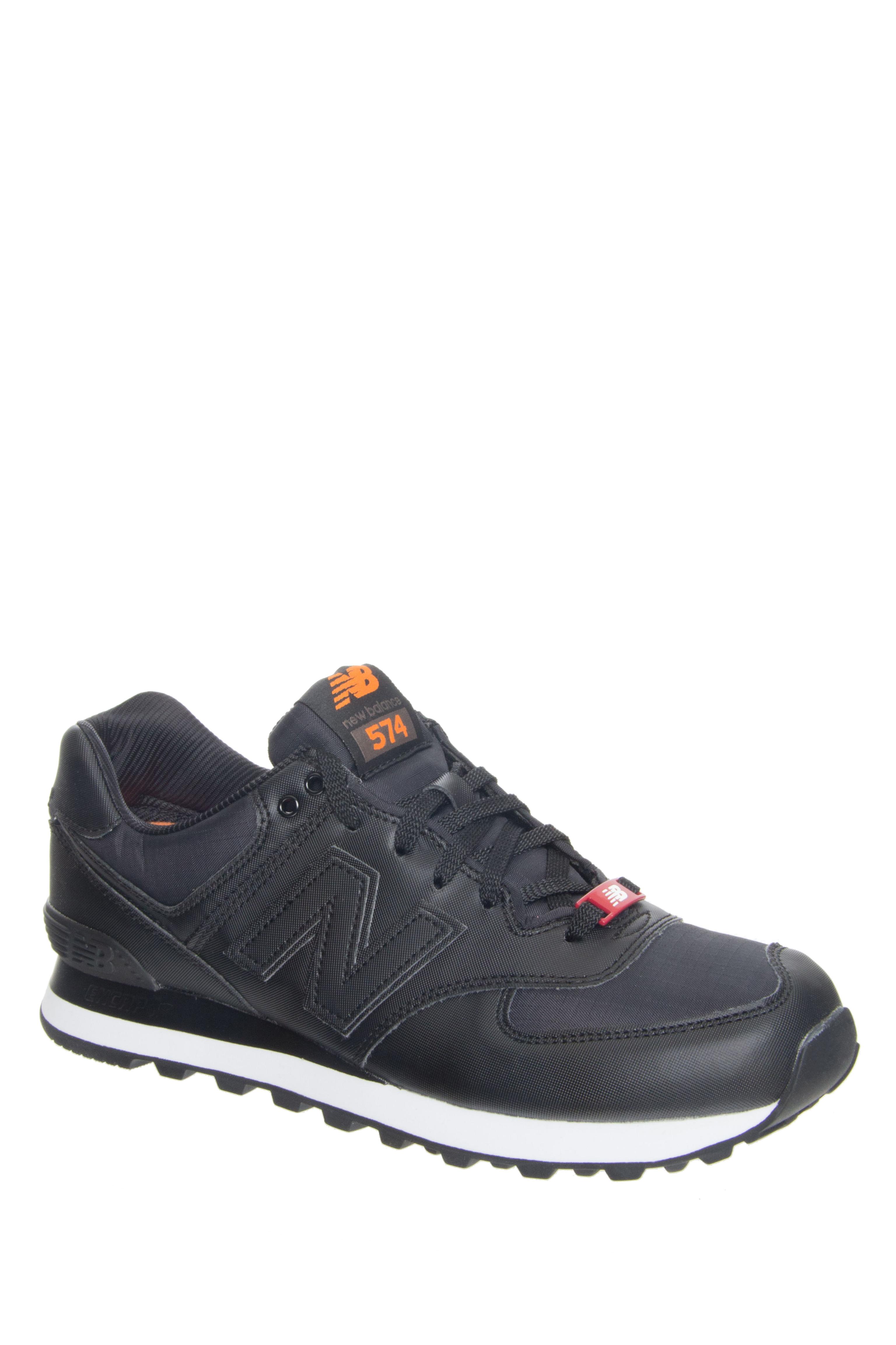 New Balance Men's 574 Flight Jacket Pack Low Top Sneaker - Black