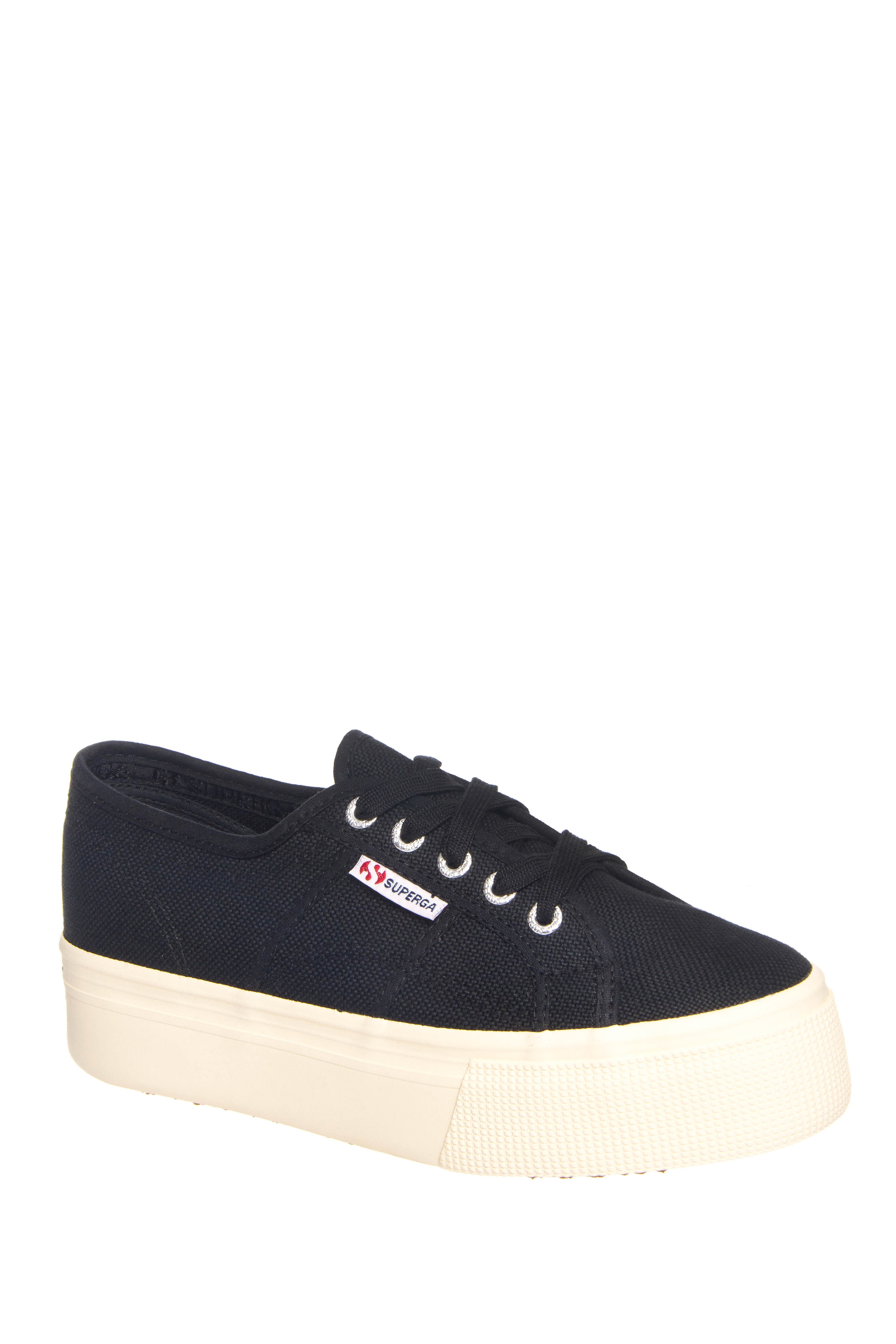 Superga 2790A Cotw Mid Platform Low Top Sneakers - Black