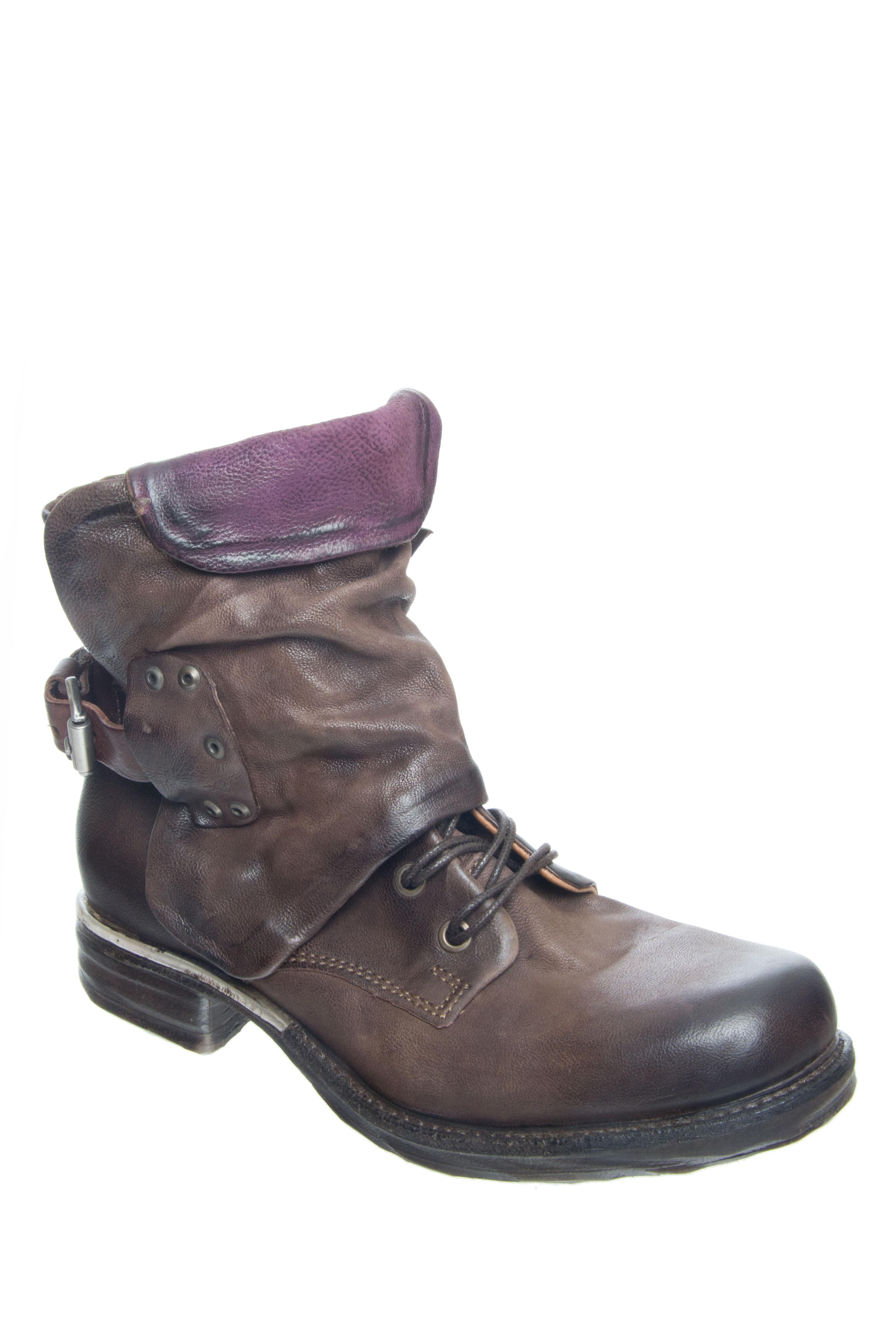 AS98 Simon Low Heel Boots - Choco