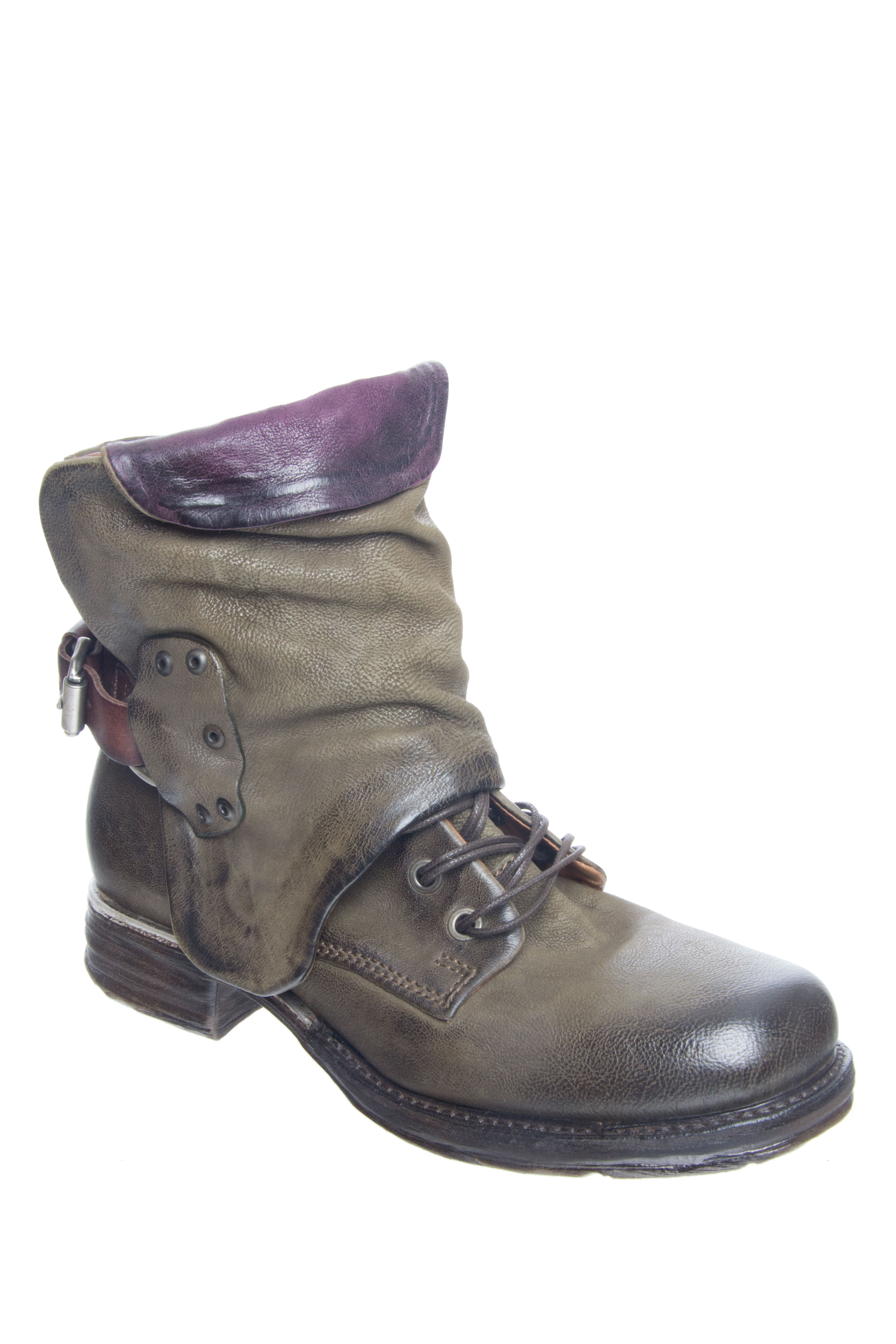 A.S.98 Simon Low Heel Boots - Loden