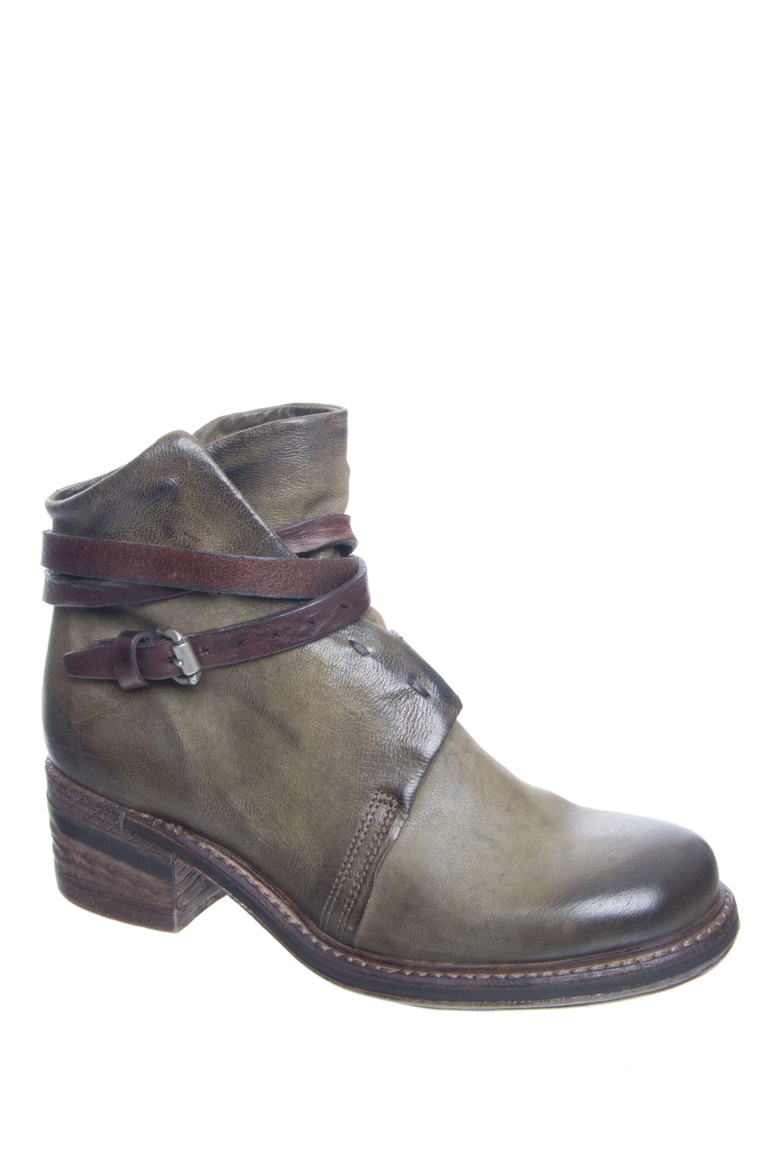 A.S.98 Norman Mid Heel Booties - Loden