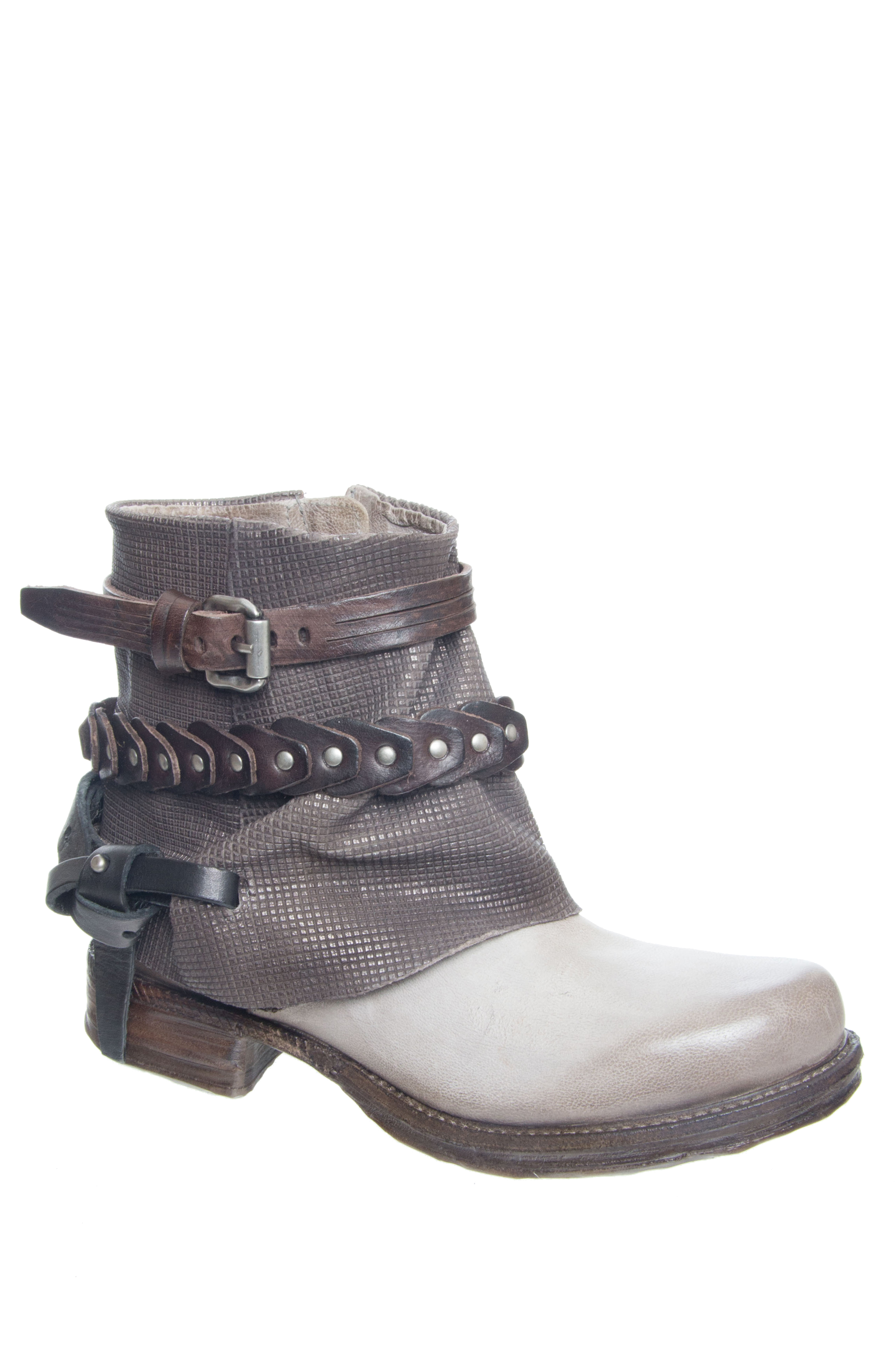 A.S.98 Stratton Low Heel Boots - Grigio