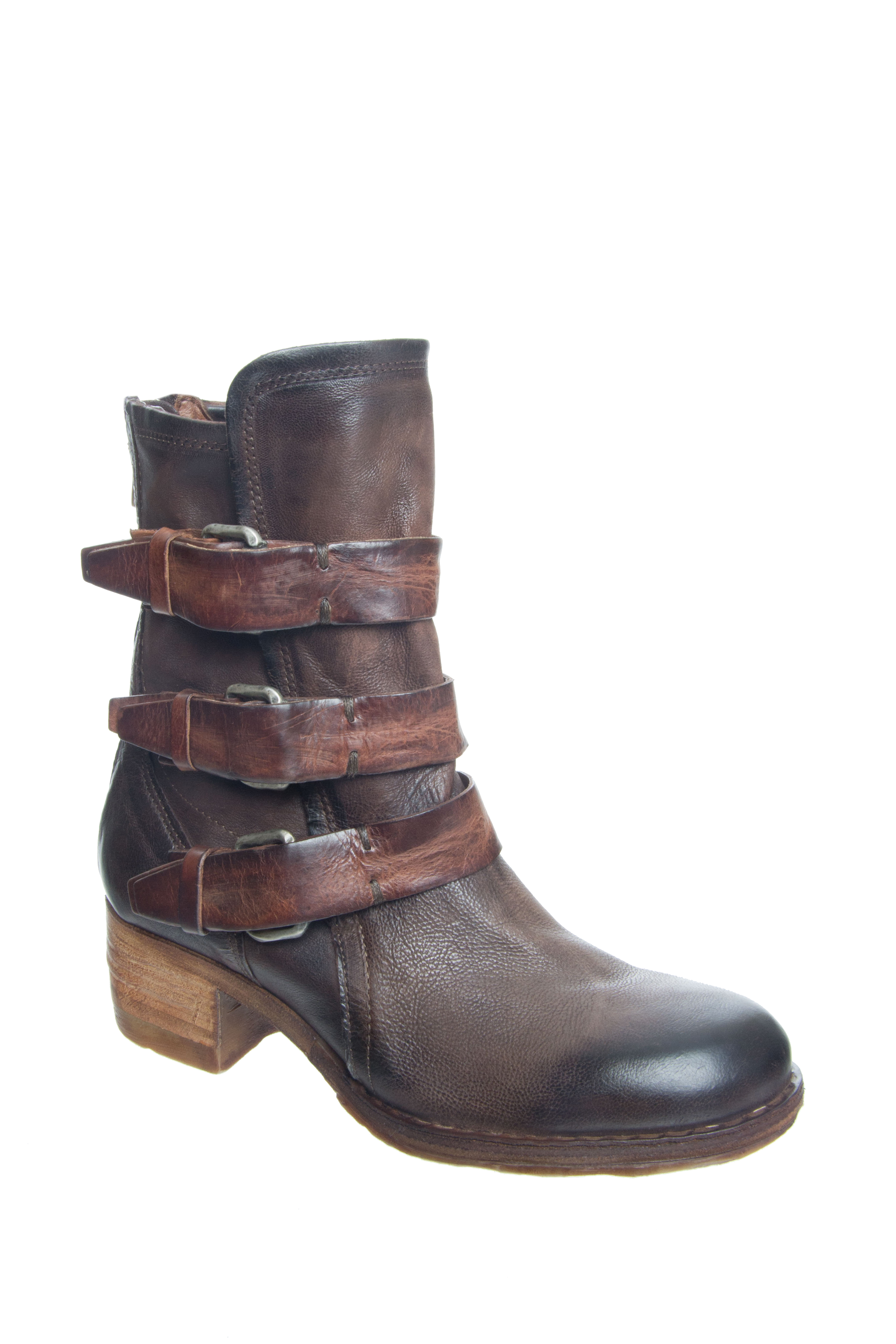 A.S.98 Xyrus Mid Heel Boots - Choco