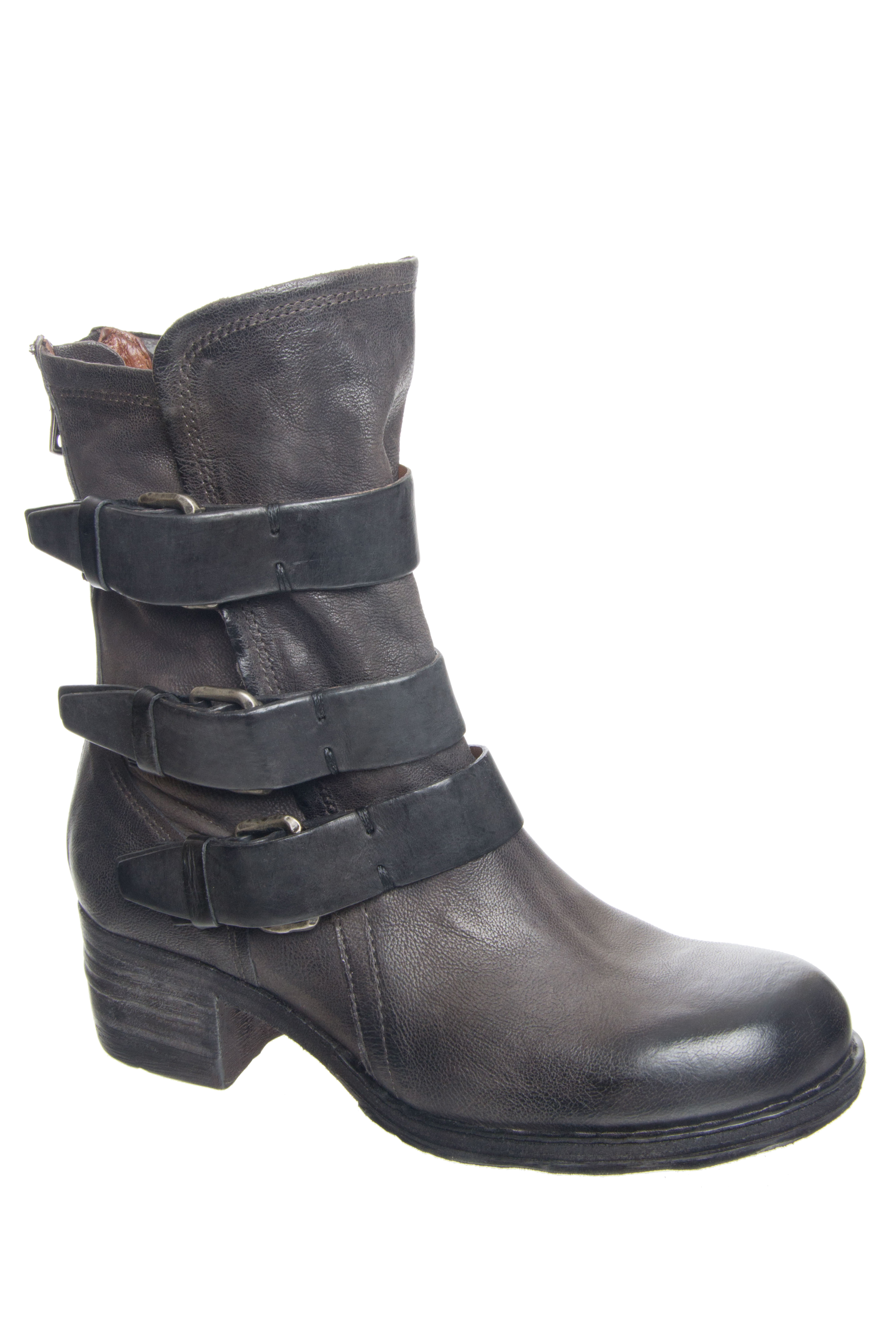 A.S.98 Xyrus Mid Heel Boots - Smoke