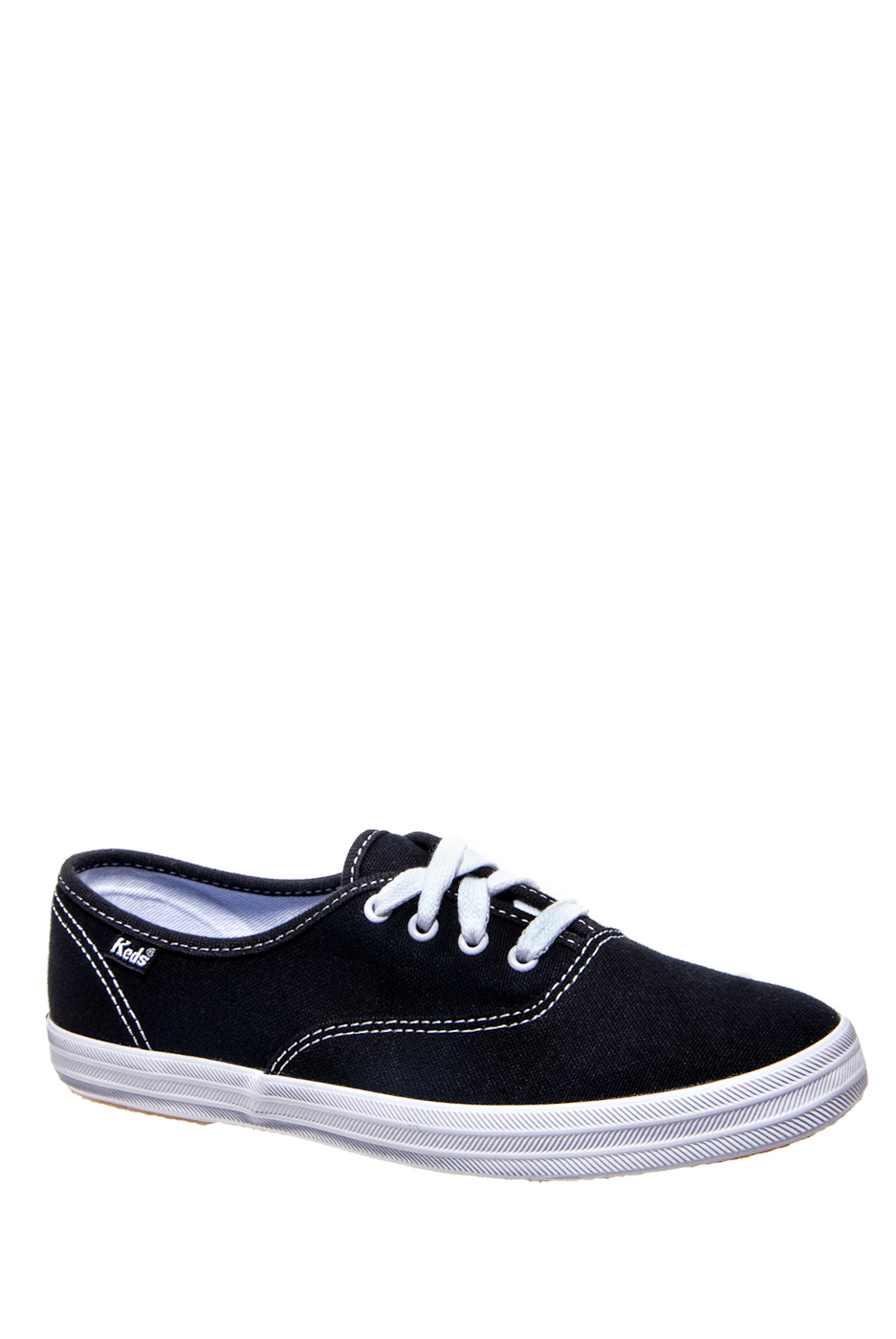 KEDS Champion Black Canvas Low Top Sneakers - Black