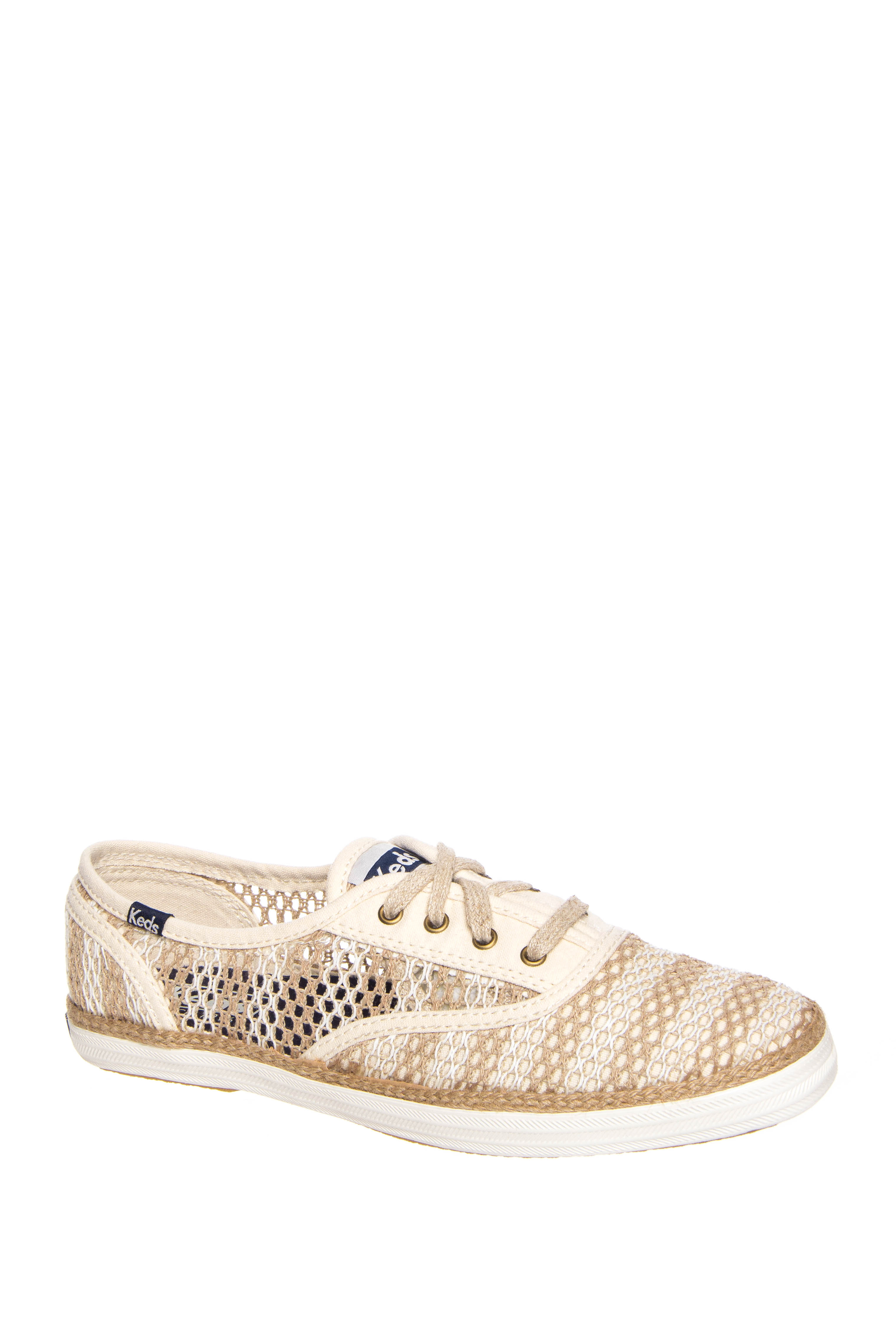 Keds Champion Crochet Low Top Sneakers - Natural / Cream