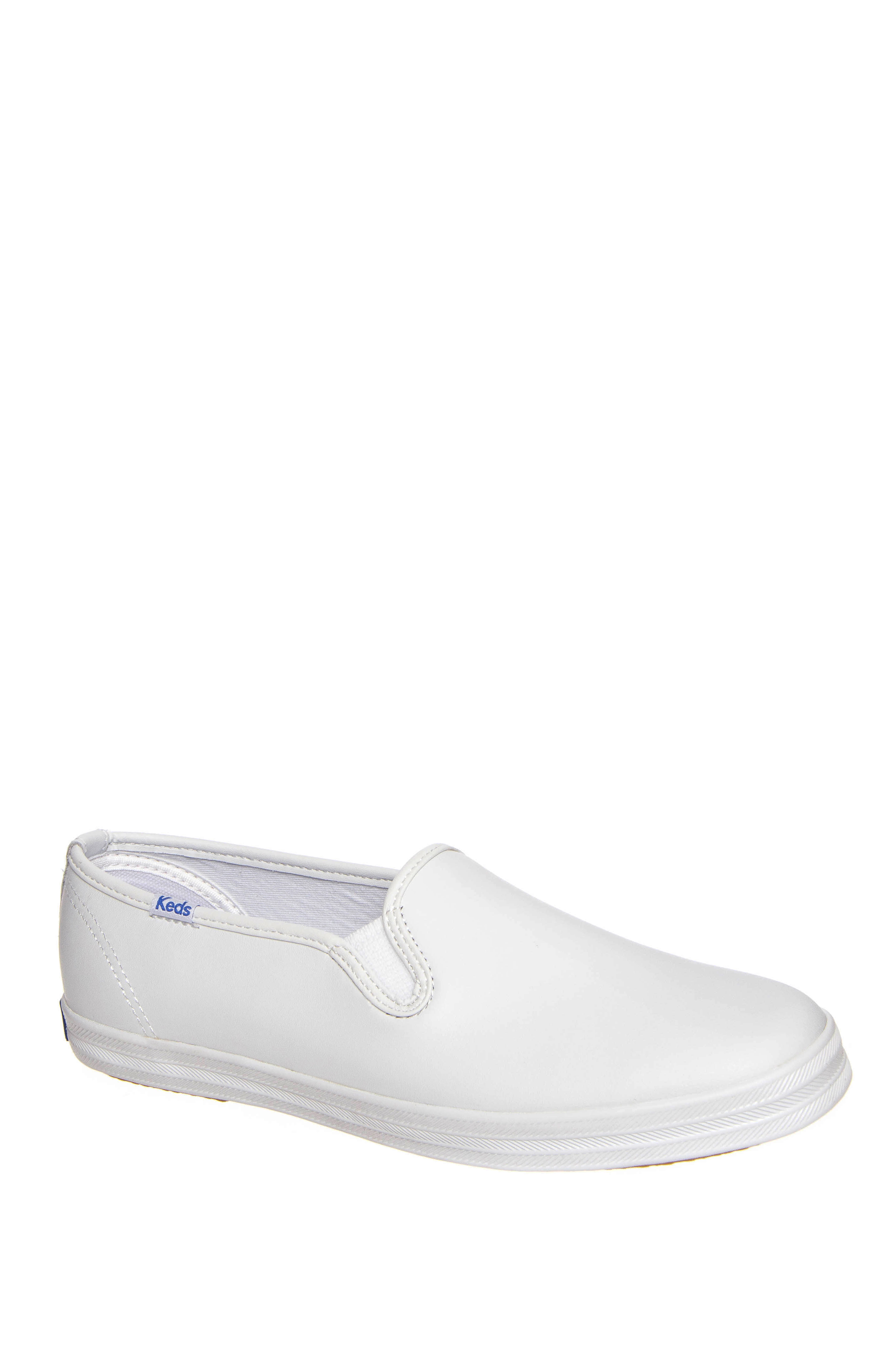 Keds Champion Slip-On Leather Sneakers - White